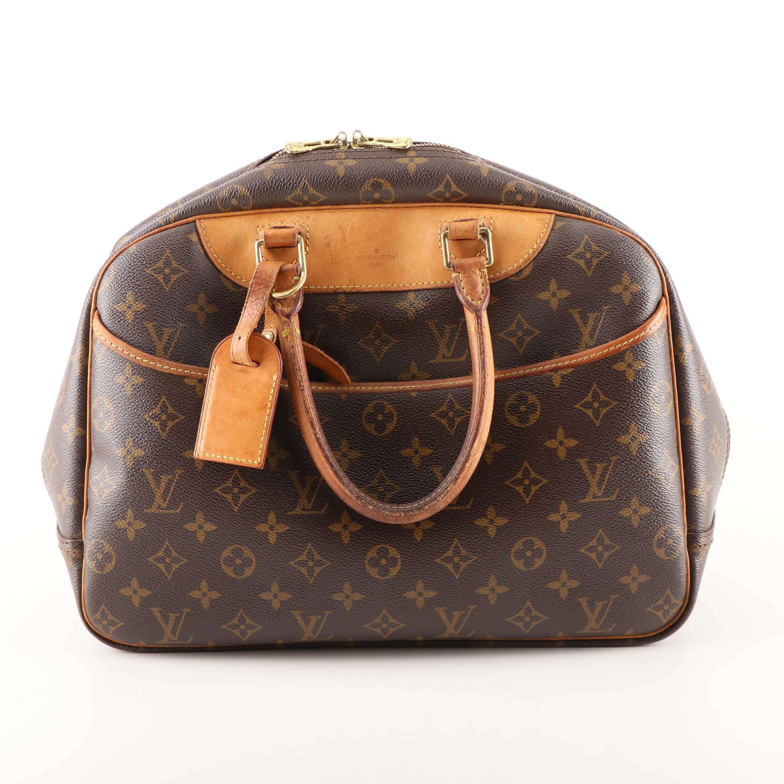 Louis Vuitton Paris Monogram Canvas Deauville Travel Bag