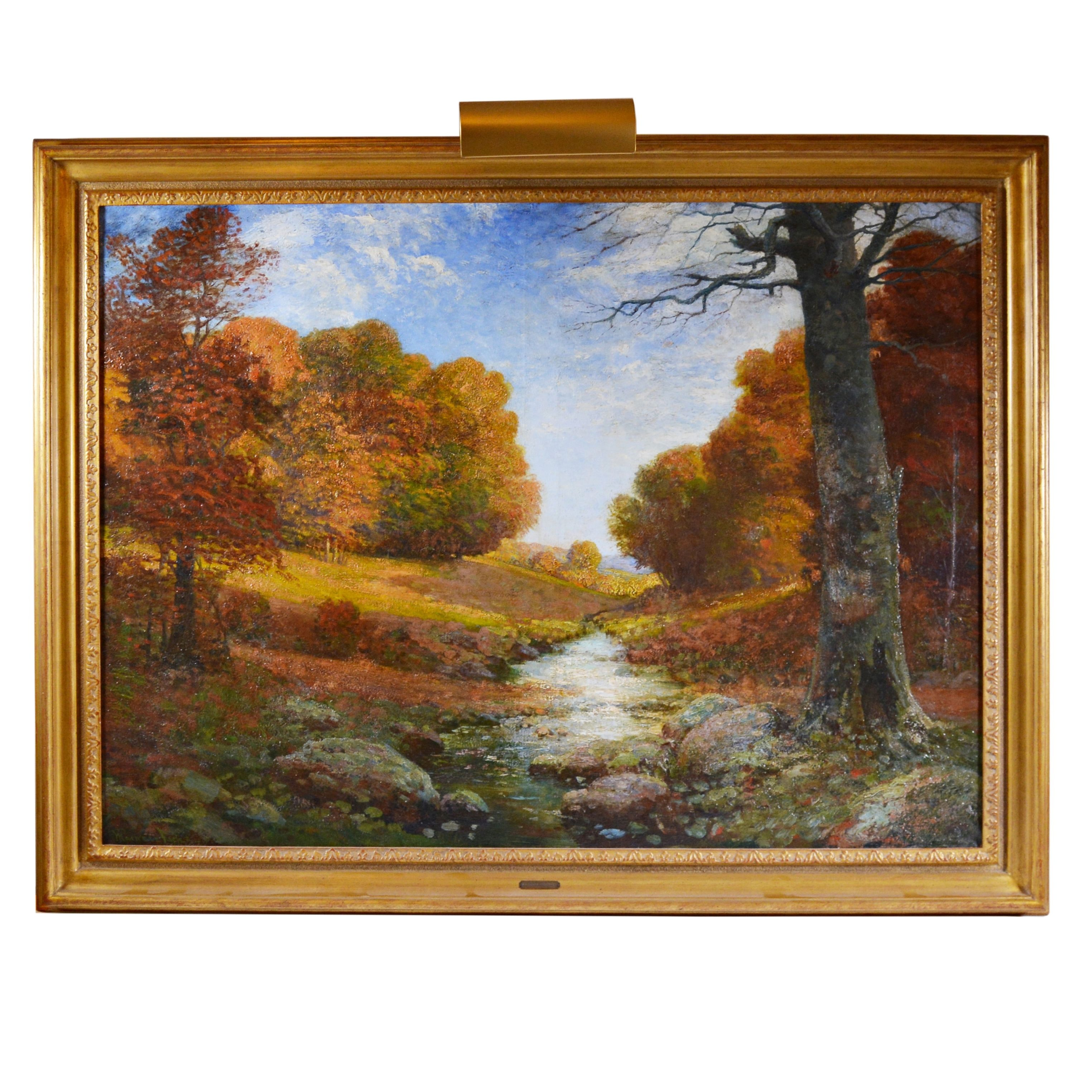 Maxwell Foster Oil Painting of Landscape, Early 20th Century