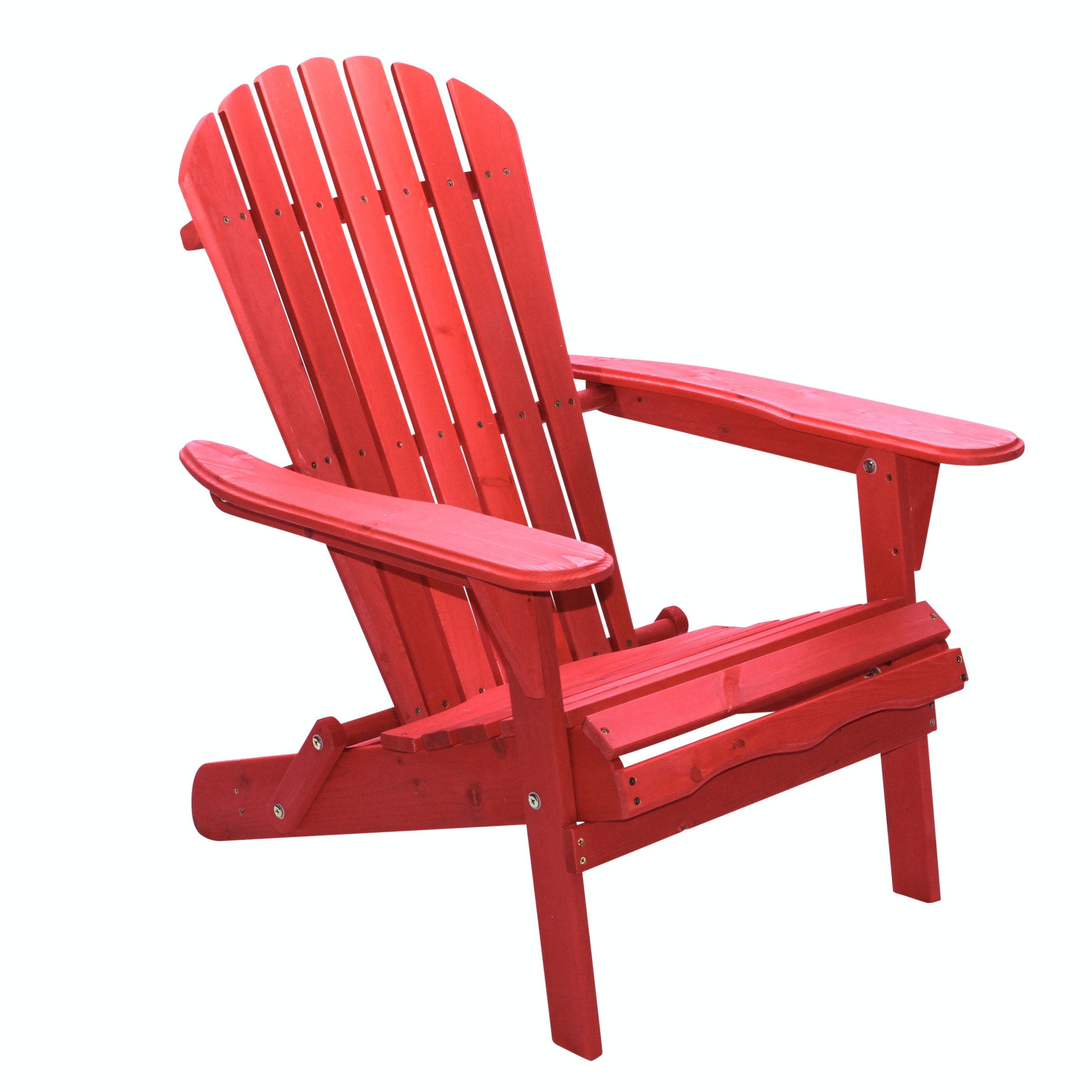 Adirondack Red Painted Chair, Contemporary