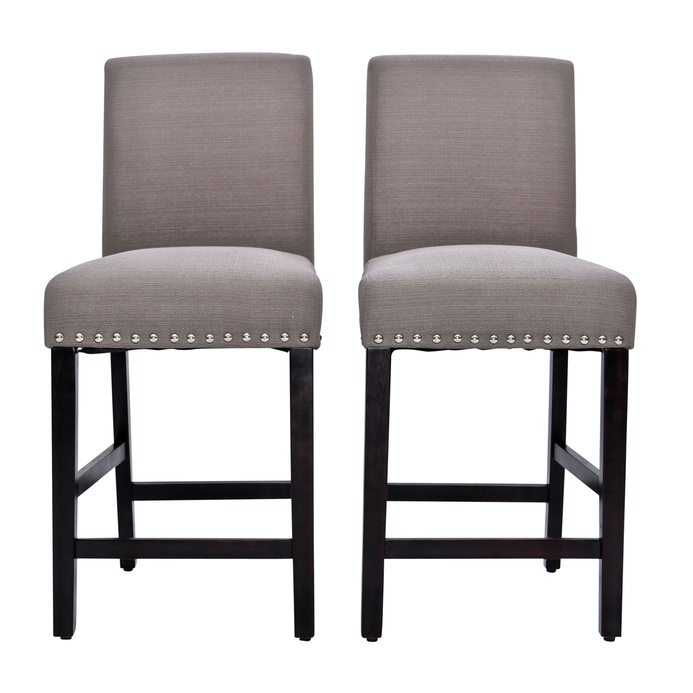 Two Dell Home Inc Studded Bar Stools, Contemporary