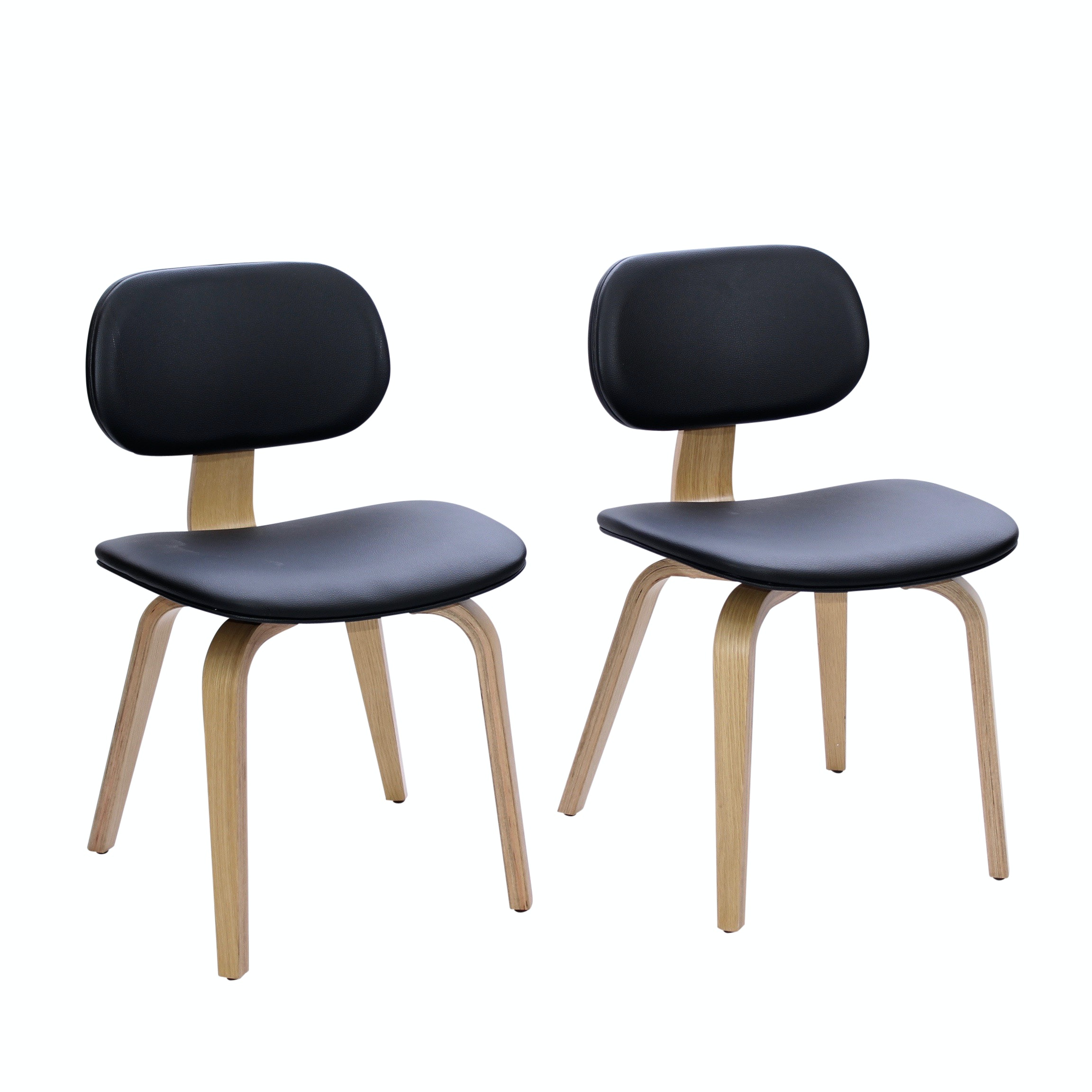 Two Gus Modern Accent Chairs, Contemporary
