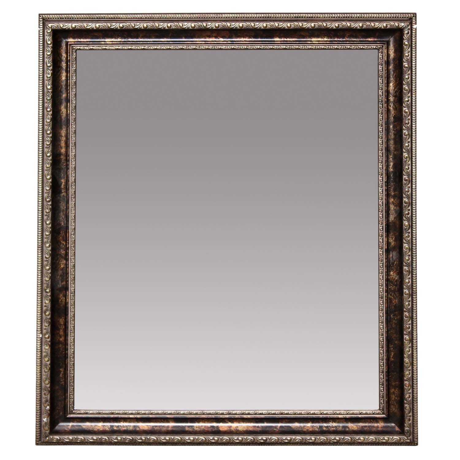 Framed Beveled Wall Mirror, Contemporary