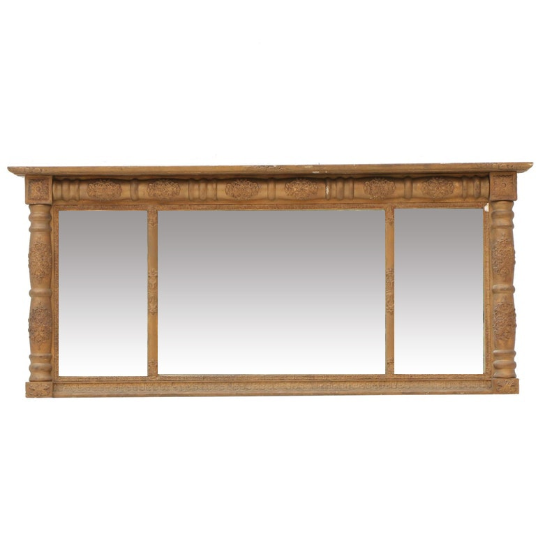 Empire Style Mantel Mirror, Mid 19th Century
