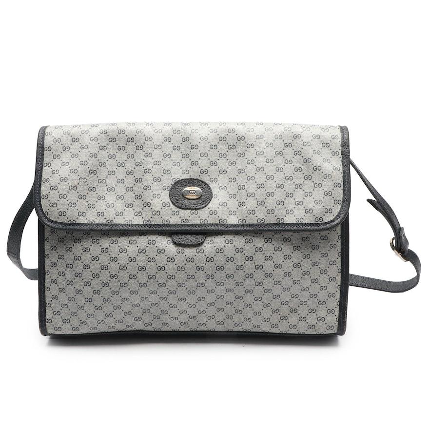 90e591fc0 Gucci Accessory Collection Coated Canvas Flap Front Shoulder Bag, Vintage    EBTH