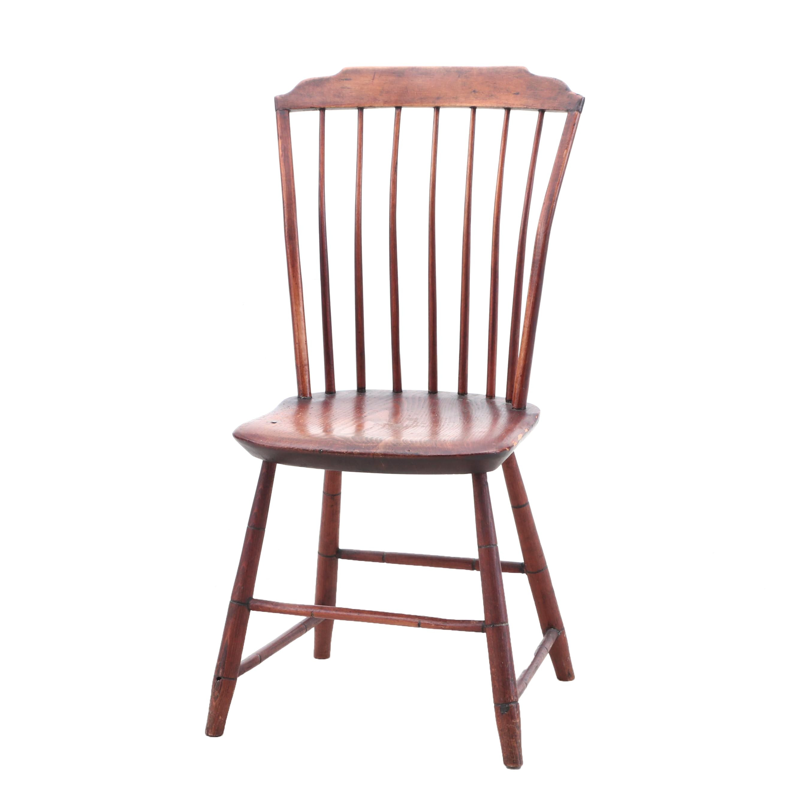Windsor Style Fan Back Side Chair