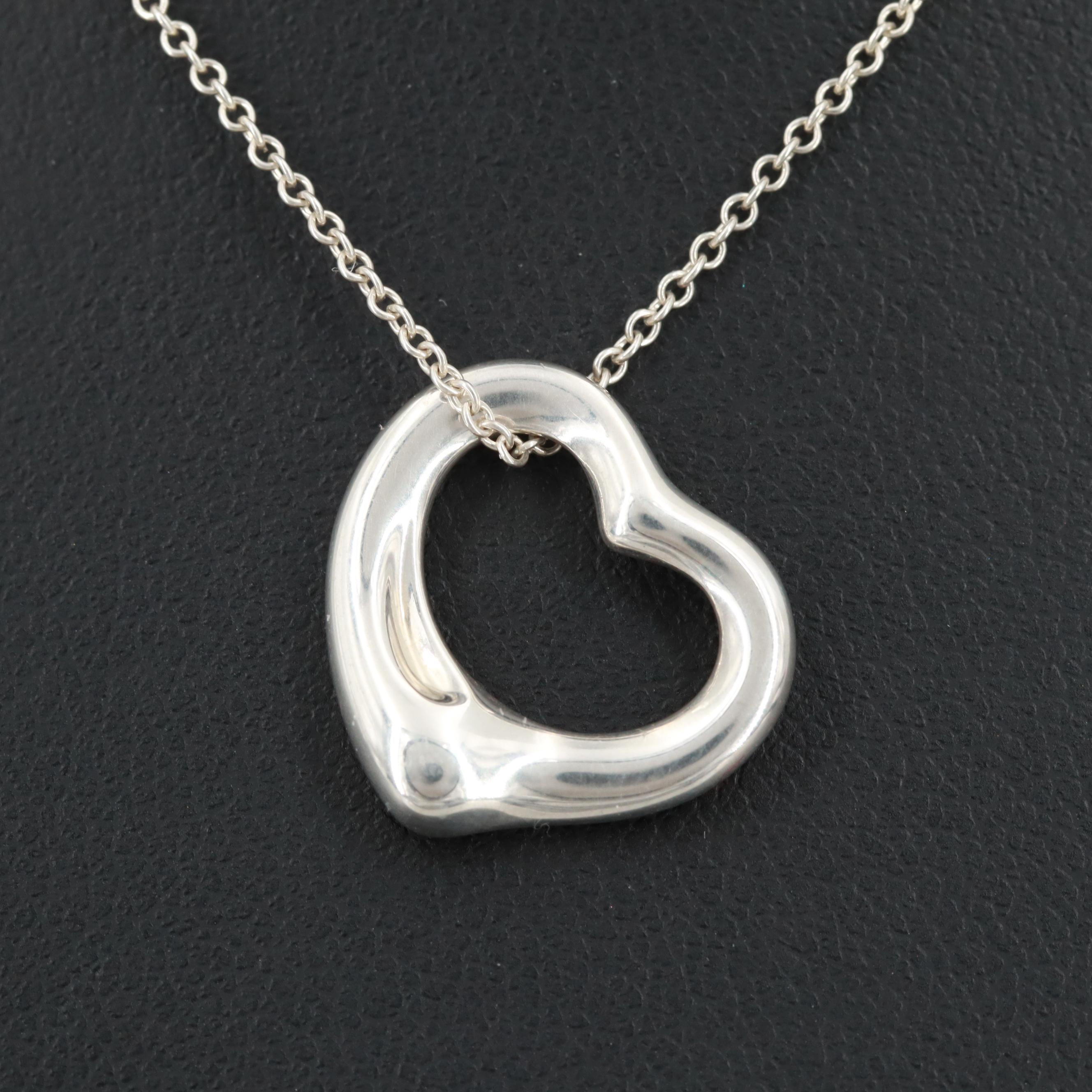 "Elsa Peretti for Tiffany & Co. Sterling Silver ""Open Heart"" Necklace"
