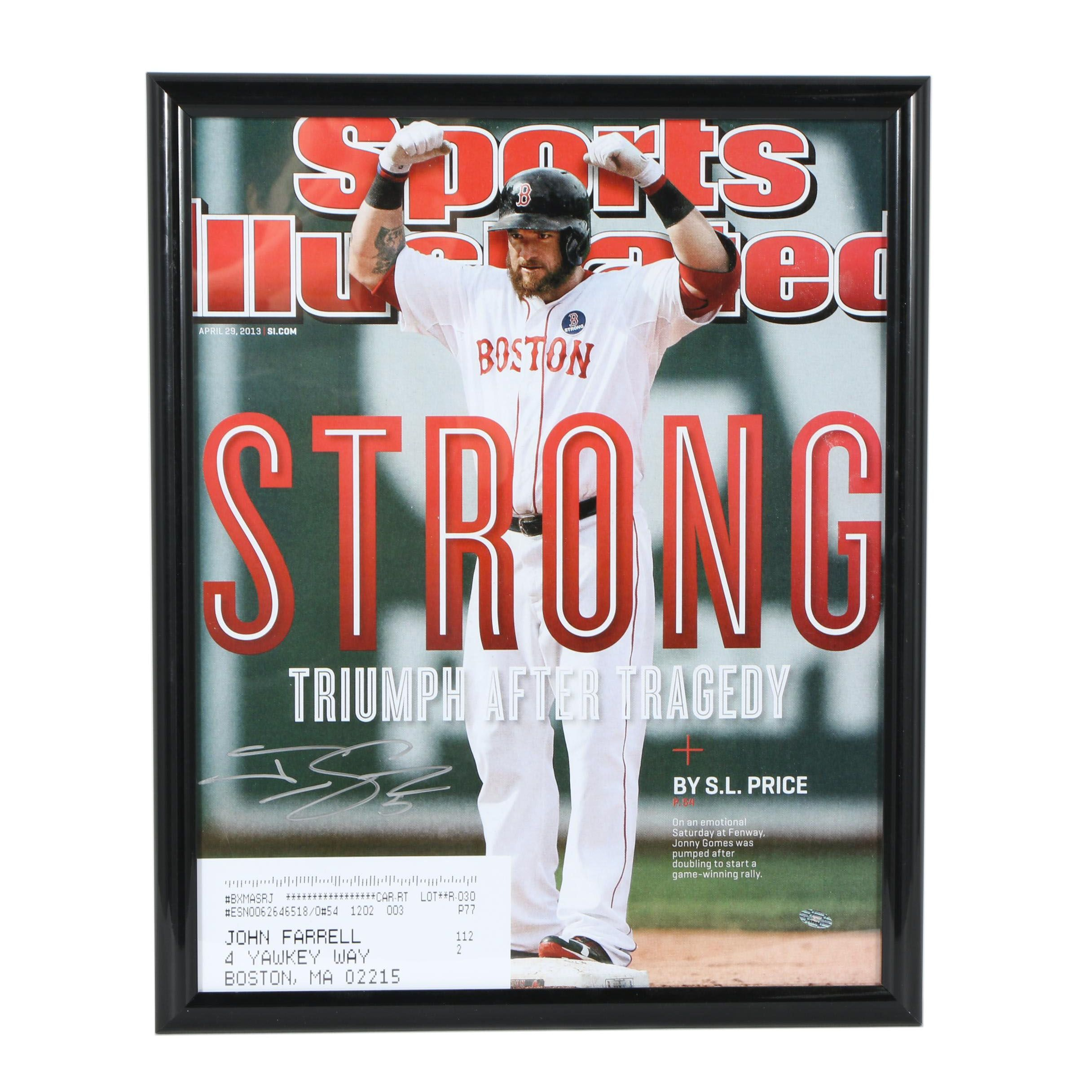 "Jonny Gomes ""Boston Strong"" Autographed and Enlarged ""Sport Illustrated"" Cover"