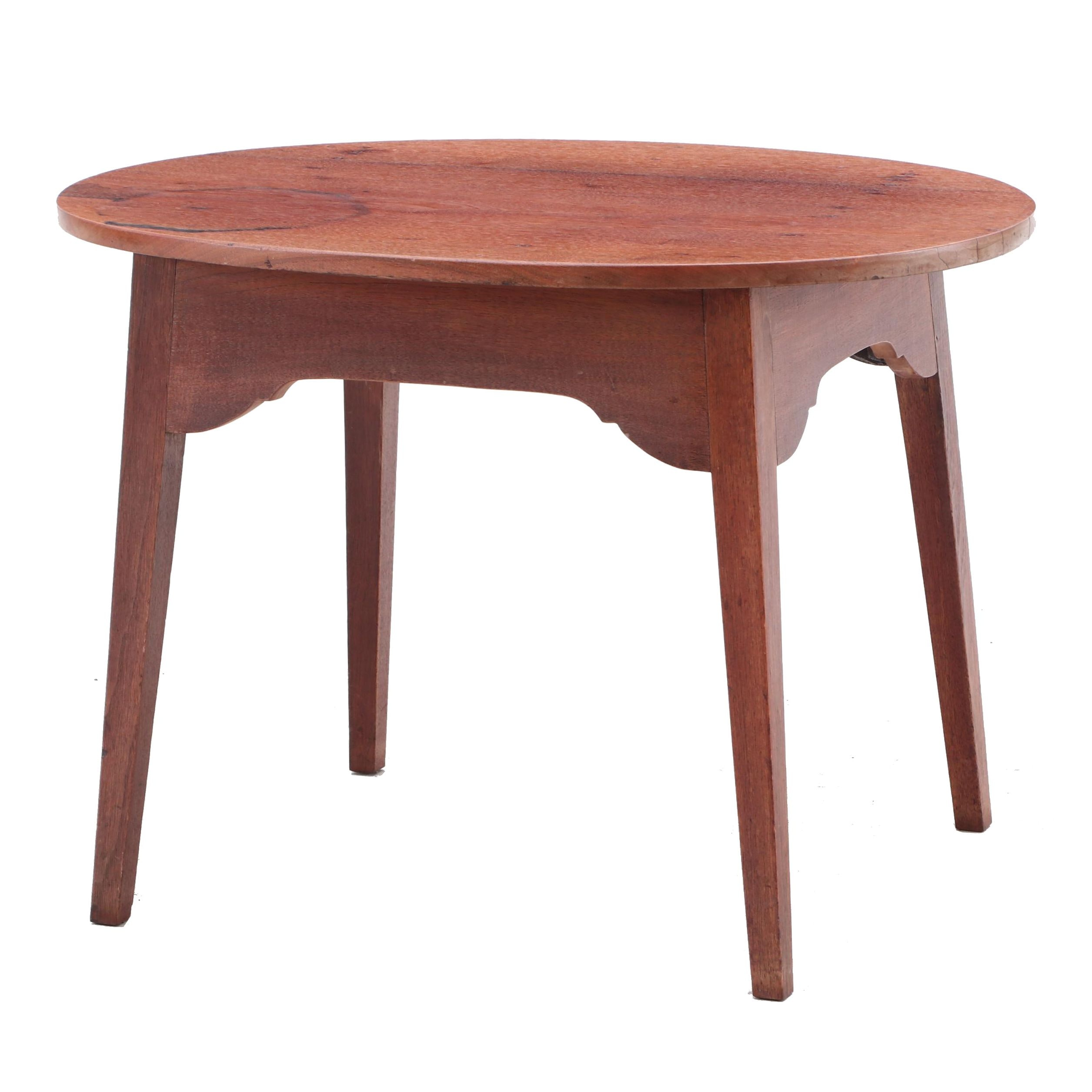 Colonial Stye Birch Accent Table in Mahogany Finish