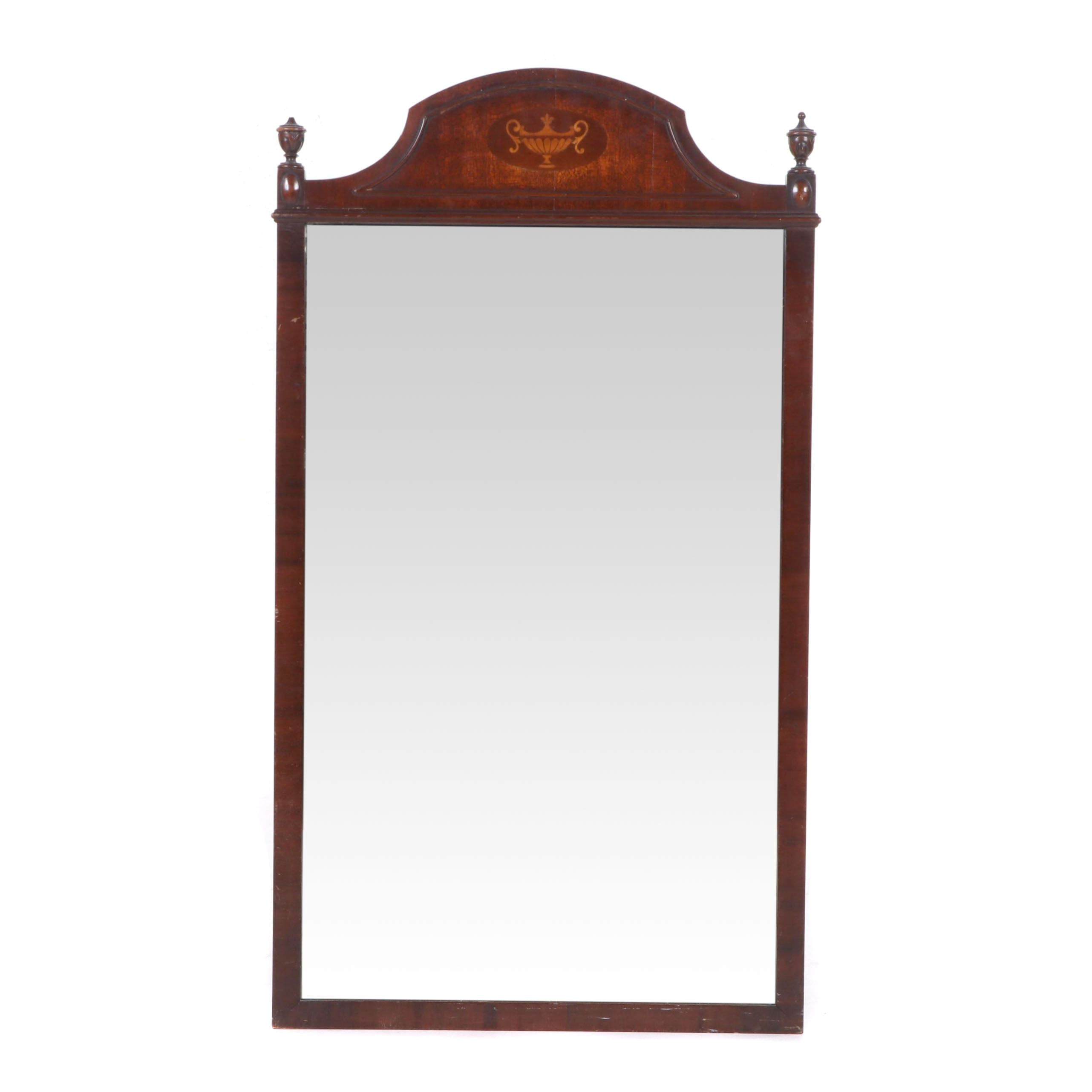 Mahogany Framed Wall Mirror Attributed to Steckler, Early 20th Century