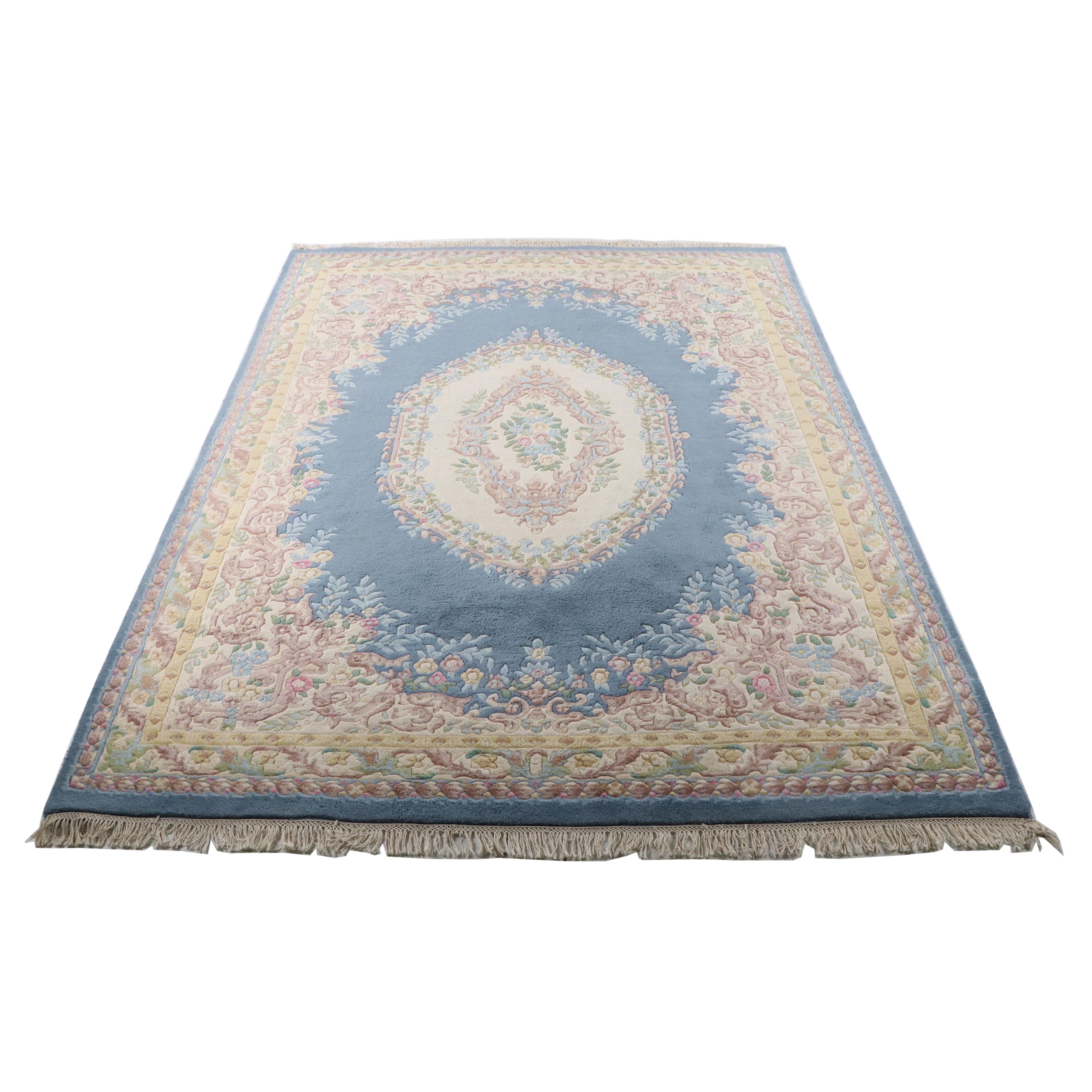 Hand-Knotted Abbas Wazir Carved Wool Rug