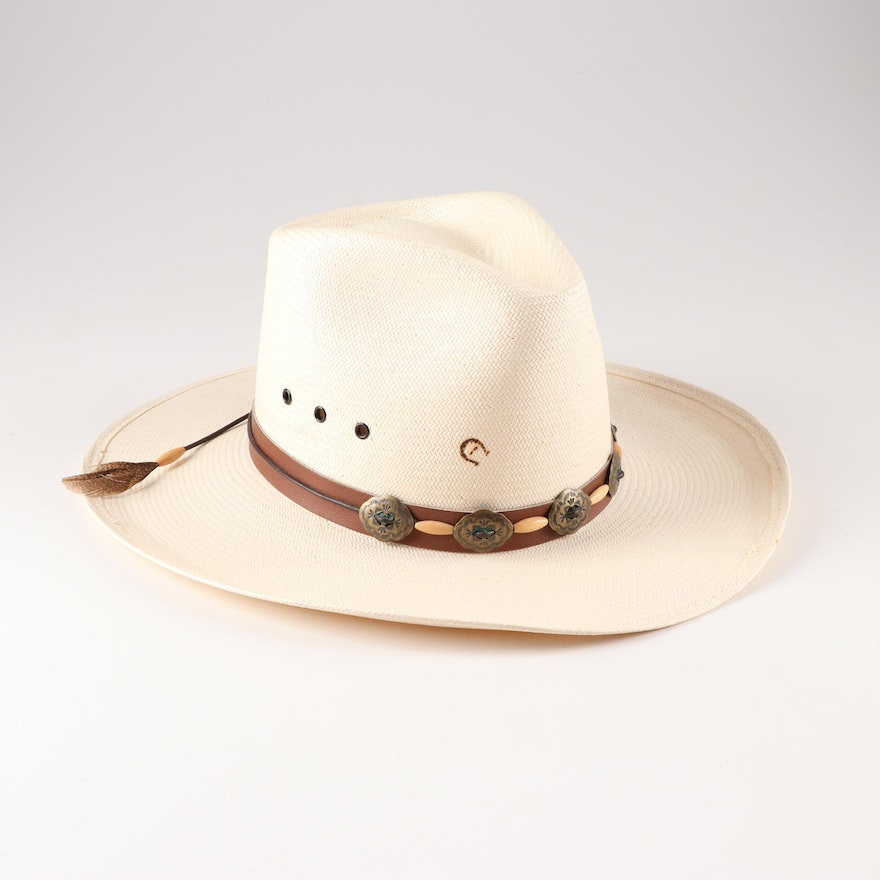 3f71337a0ec21 Women s Charlie 1 Horse Hat Co. by Stetson Woven Straw Western Style Hat    EBTH