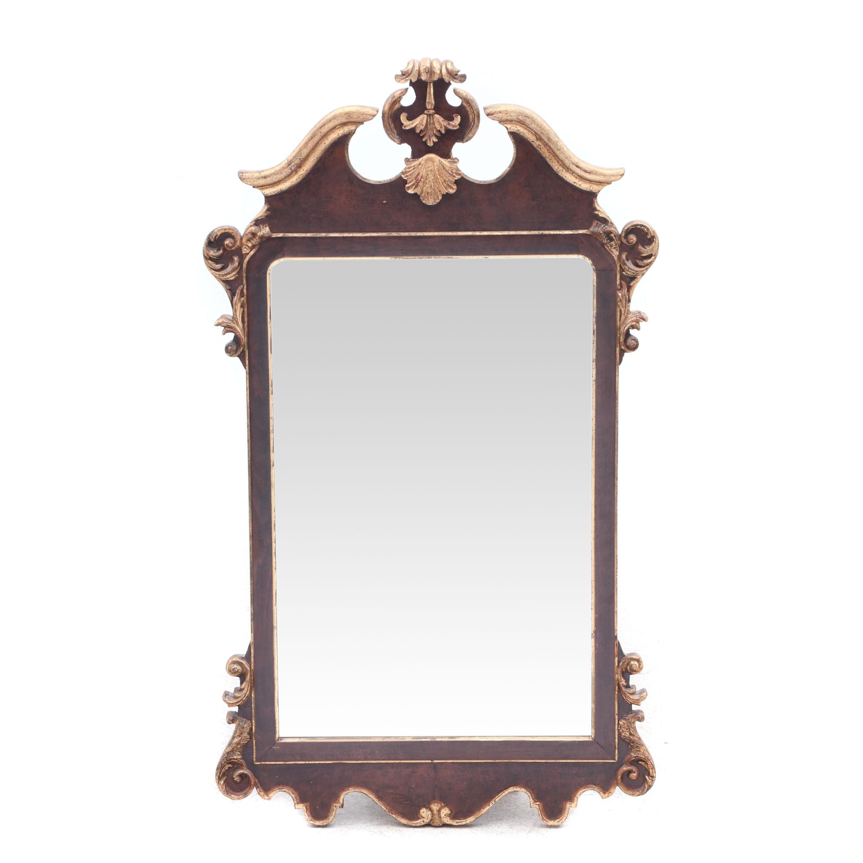 Italian Federal Style Giltwood Wall Mirror