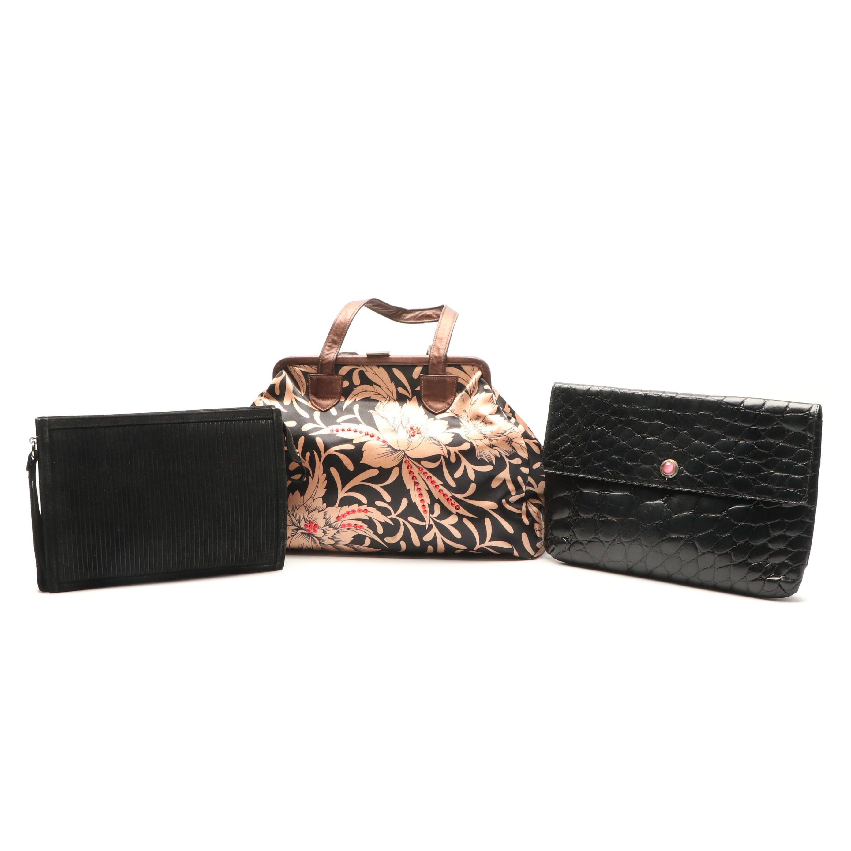 Handbags Including Jay Herbert New York and Jamie Marx Italian Envelope Clutch
