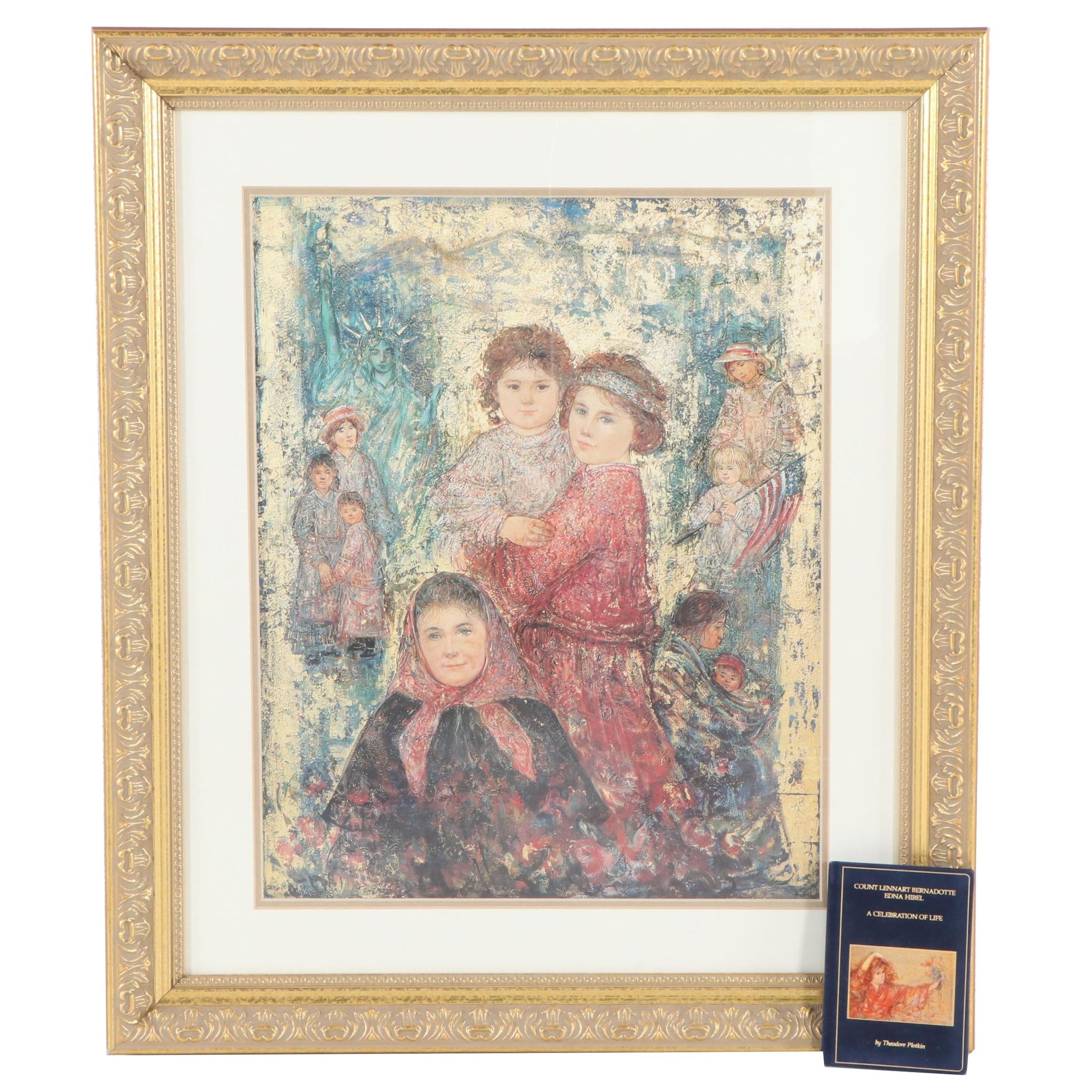 """Edna Hibel """"Our Mothers Before Us"""" Offset Lithograph Print"""