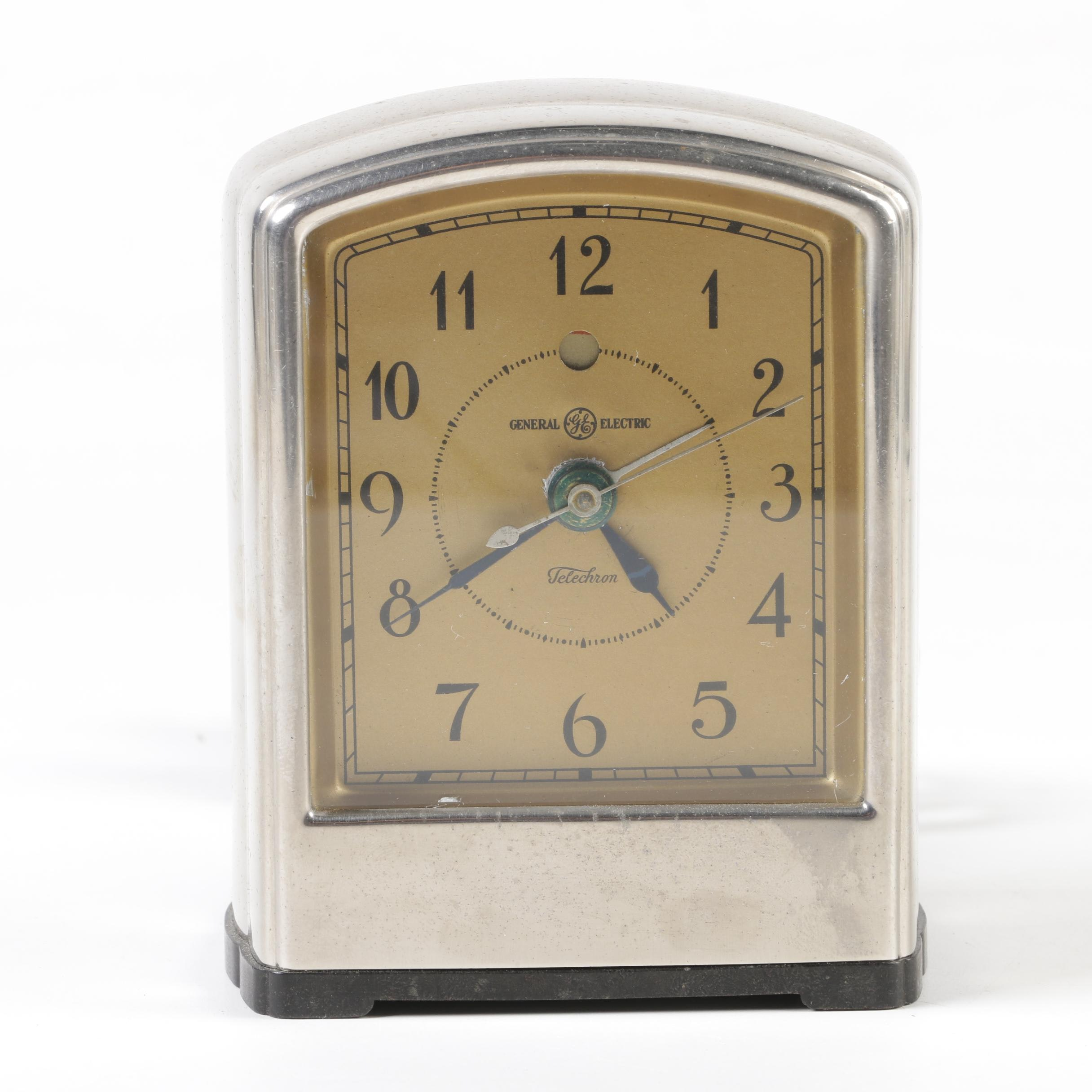 "General Electric ""Telalarm"" Telechron Electric Alarm Clock, circa 1929"