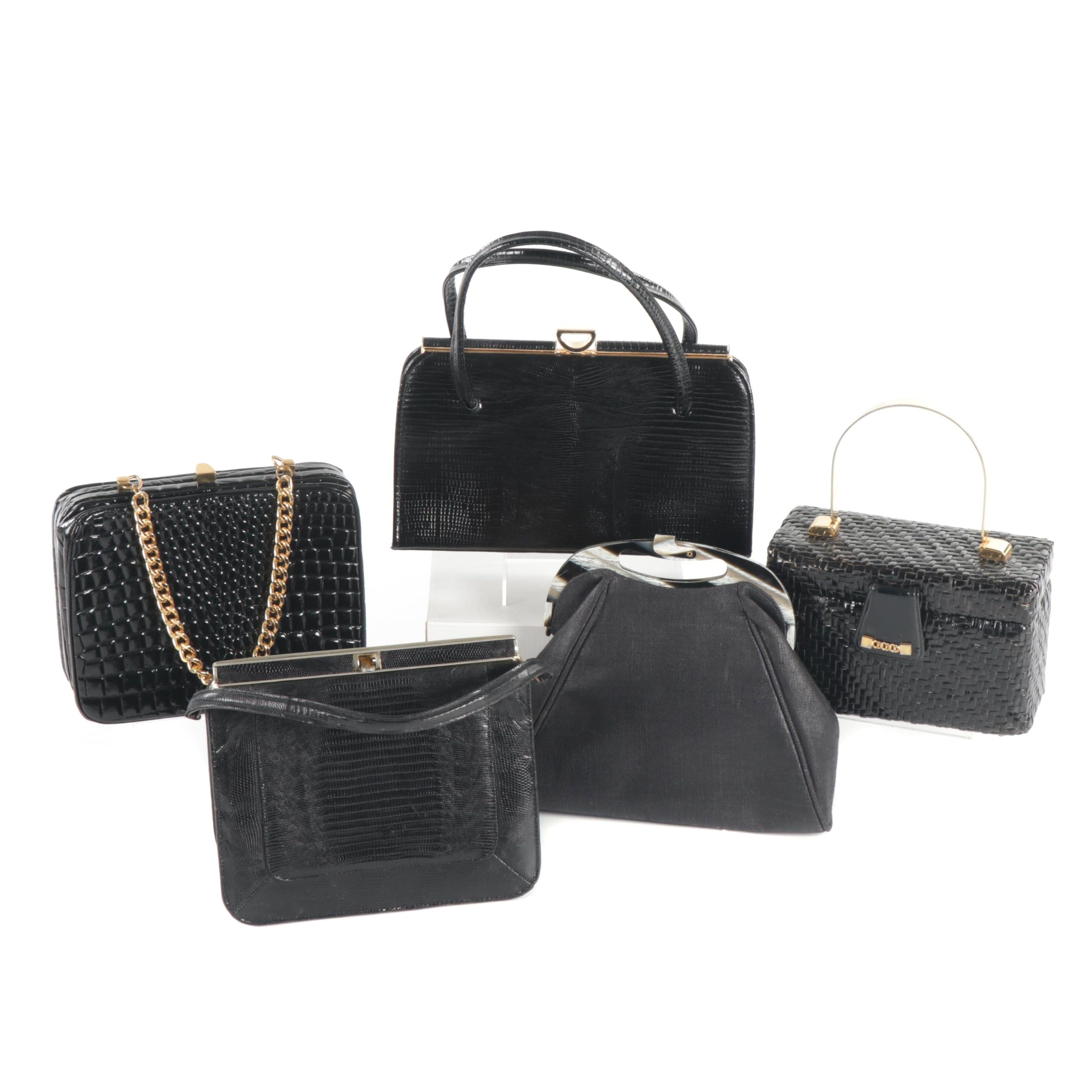Black Handbags Featuring Crouch & Fitzgerald and Carrie Forbes