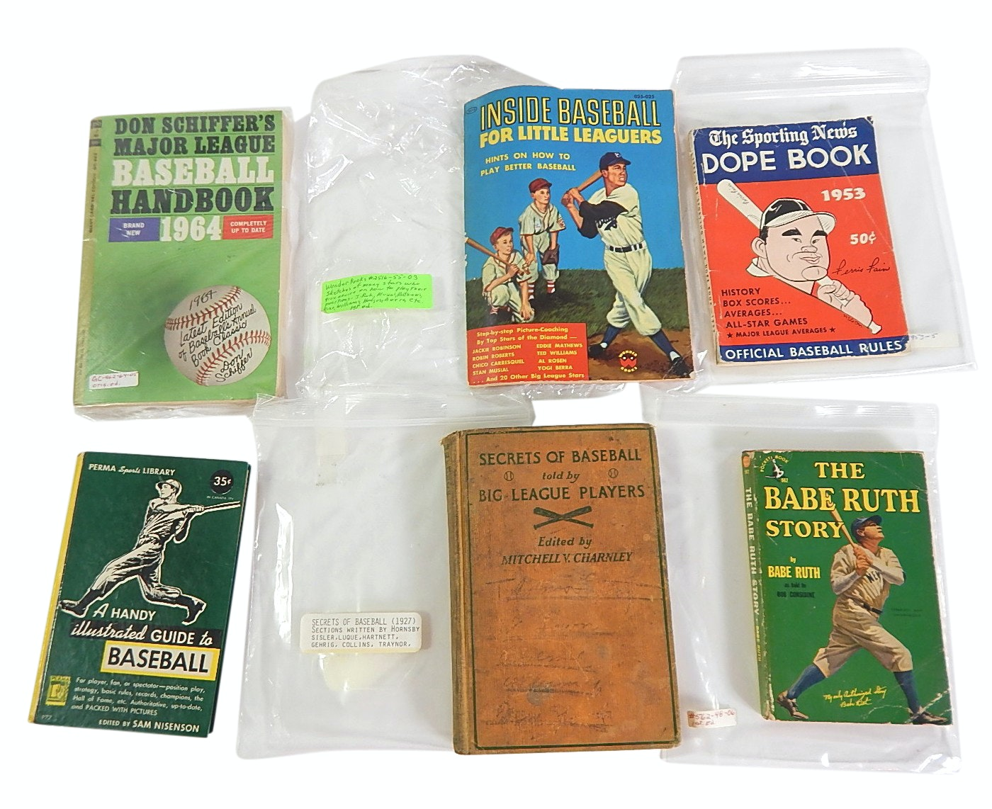 """Vintage Baseball Books Dating to 1927 with """"Secrets of Baseball"""" and More"""