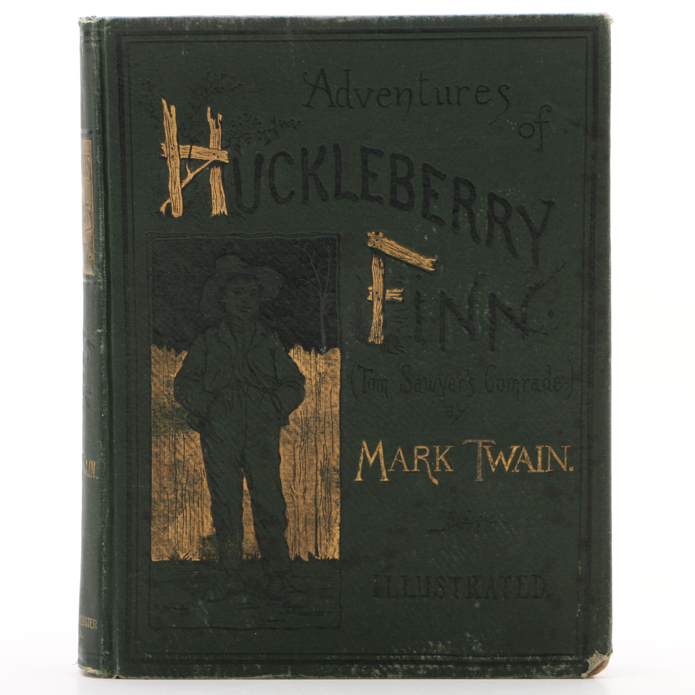 "First American Edition ""Adventures of Huckleberry Finn"" by Mark Twain, 1885"
