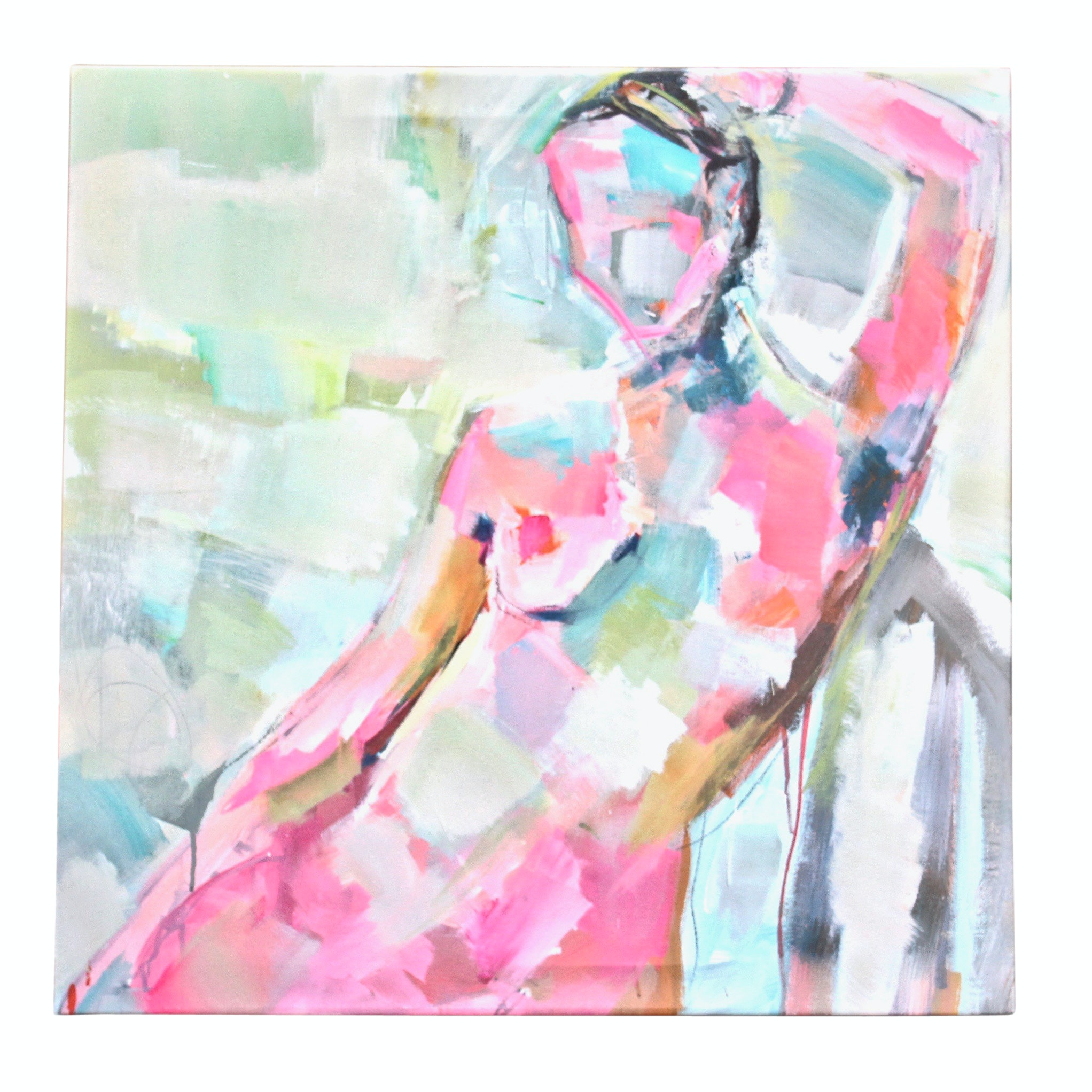 Abstract Nude Art Print on Canvas