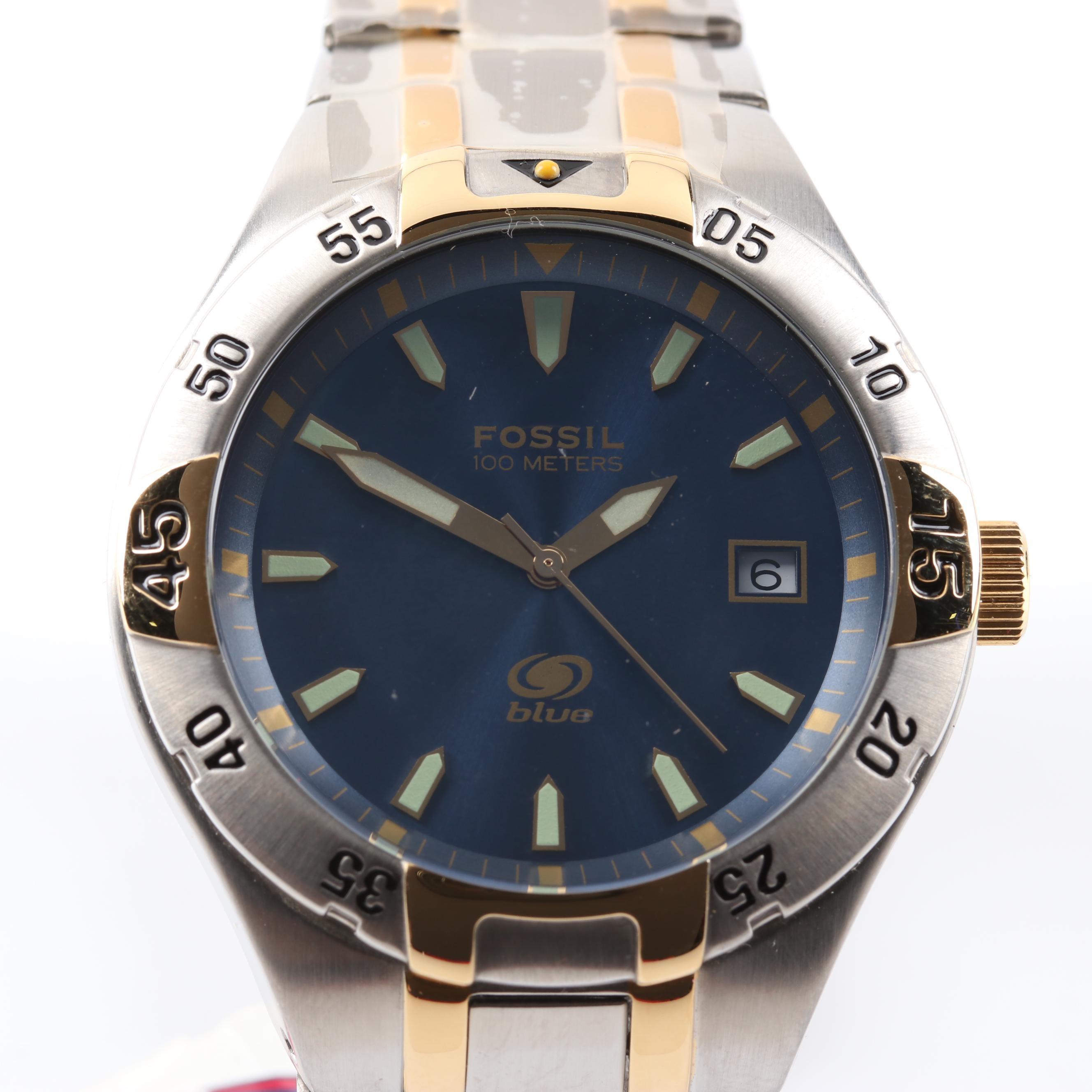 Fossil Blue Wristwatch