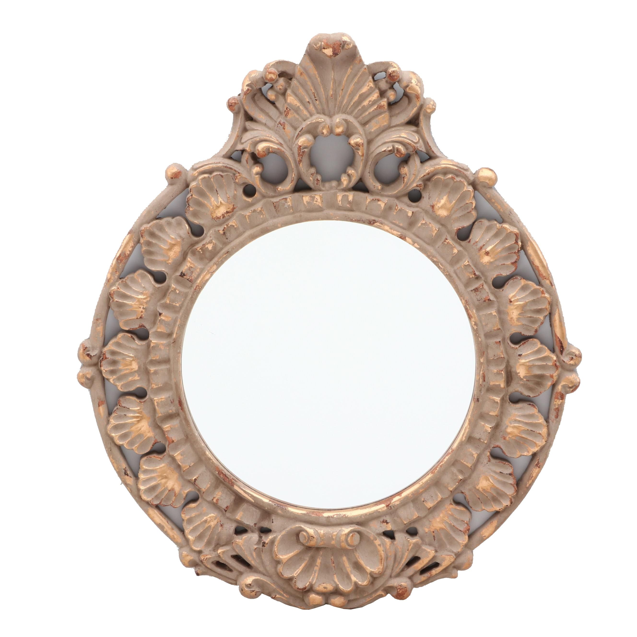 Shell and Acanthus Motif Girandole Wall Mirror
