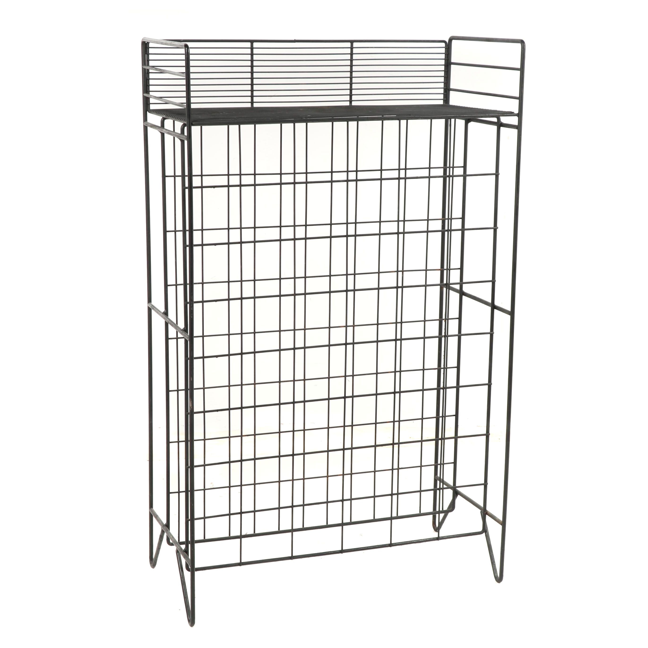 Contemporary Metal Wire Wine Rack
