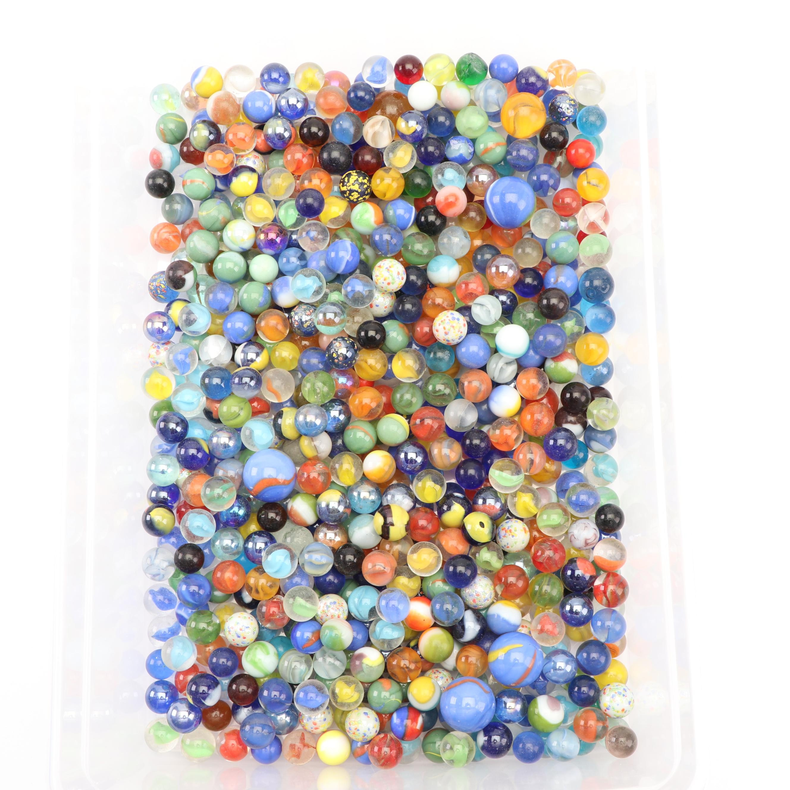 Collection of Hand Blown Glass Marbles