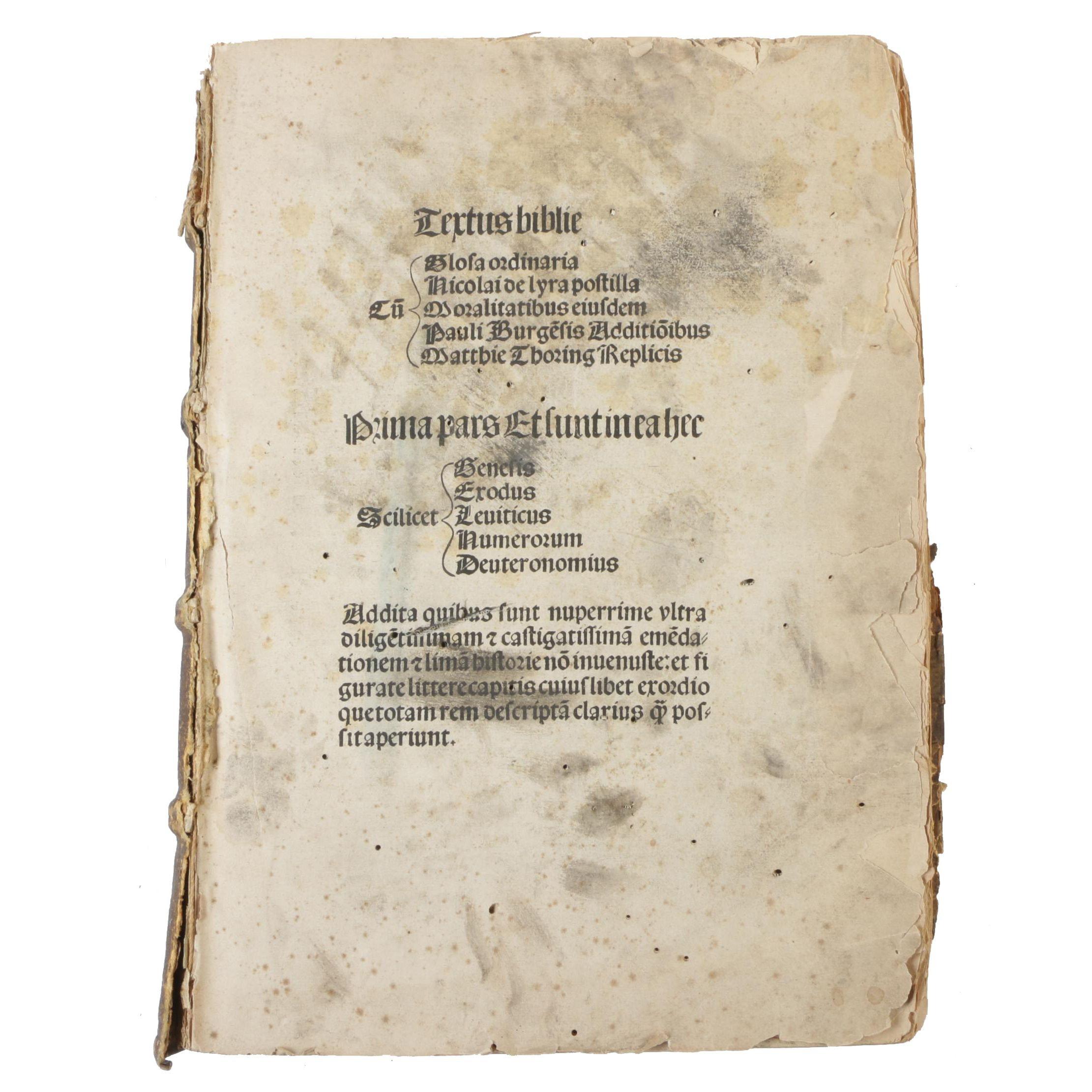 1506 Bible with Gloss of Nicolas of Lyra, Volume I
