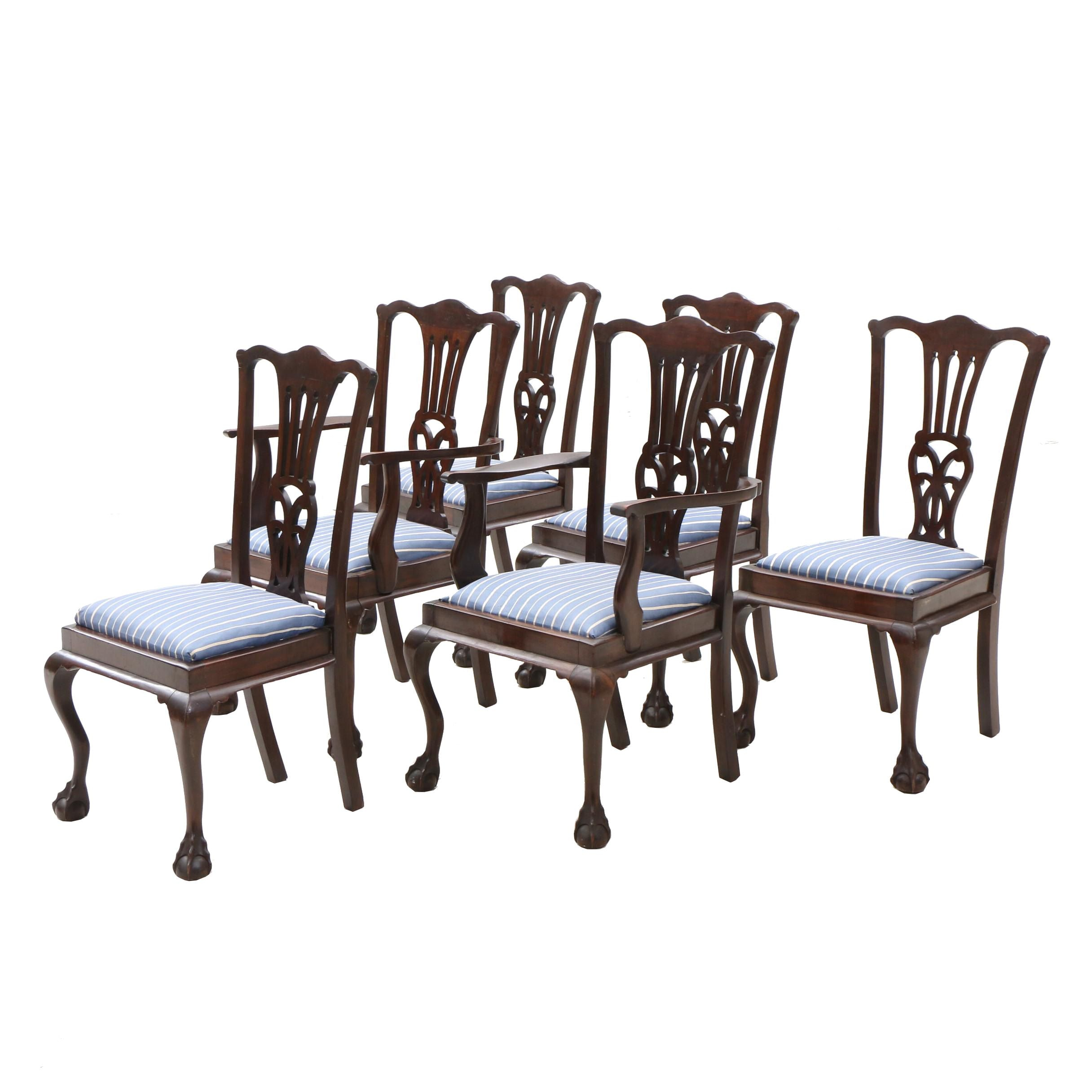 Chippendale Style Dining Chairs, Early 20th Century