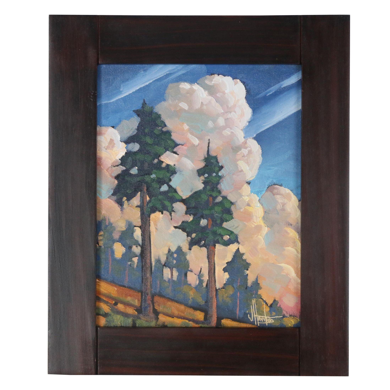 "William Hawkins Oil Painting ""Shards of Radiance"""