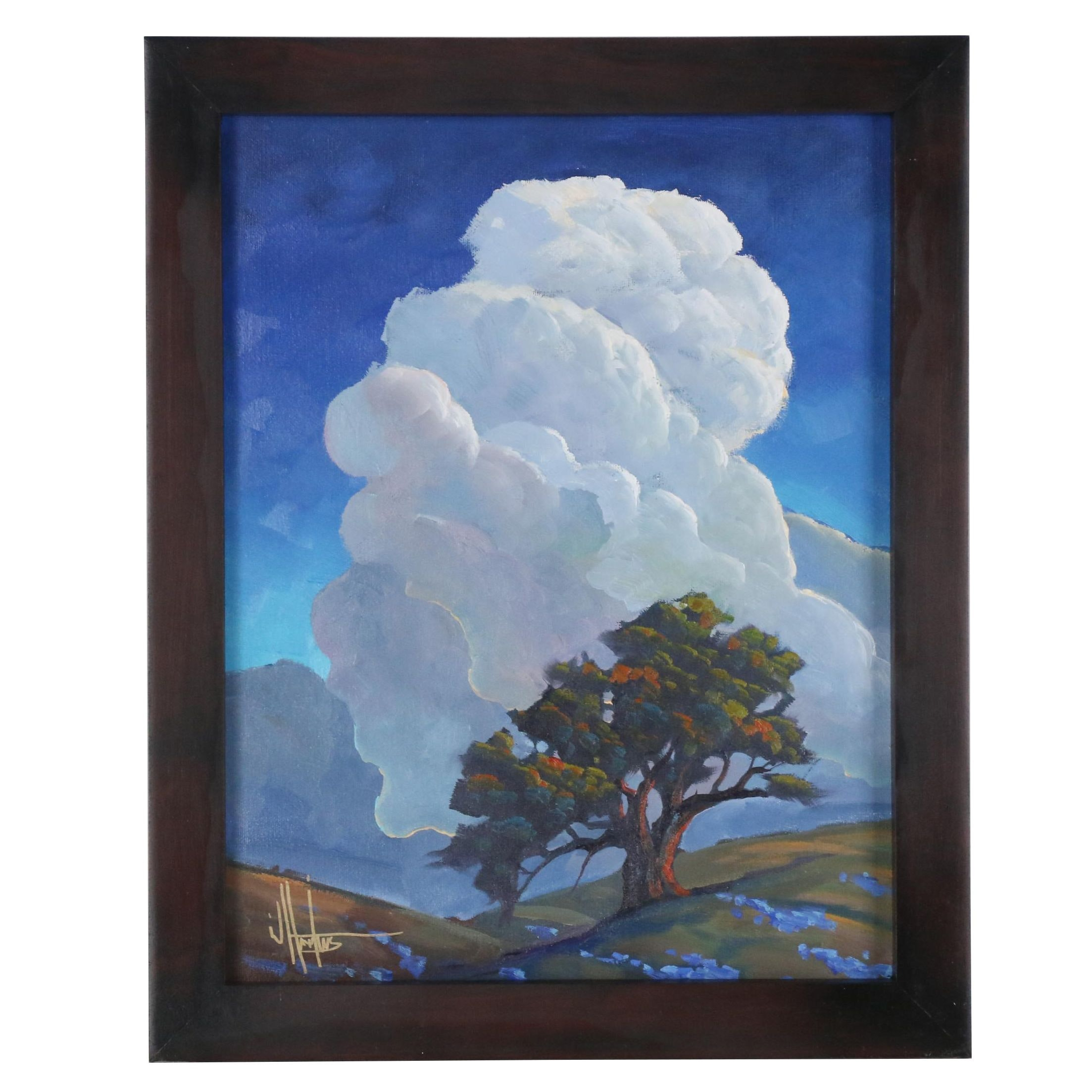 "William Hawkins Oil Painting ""Cloudwise"""
