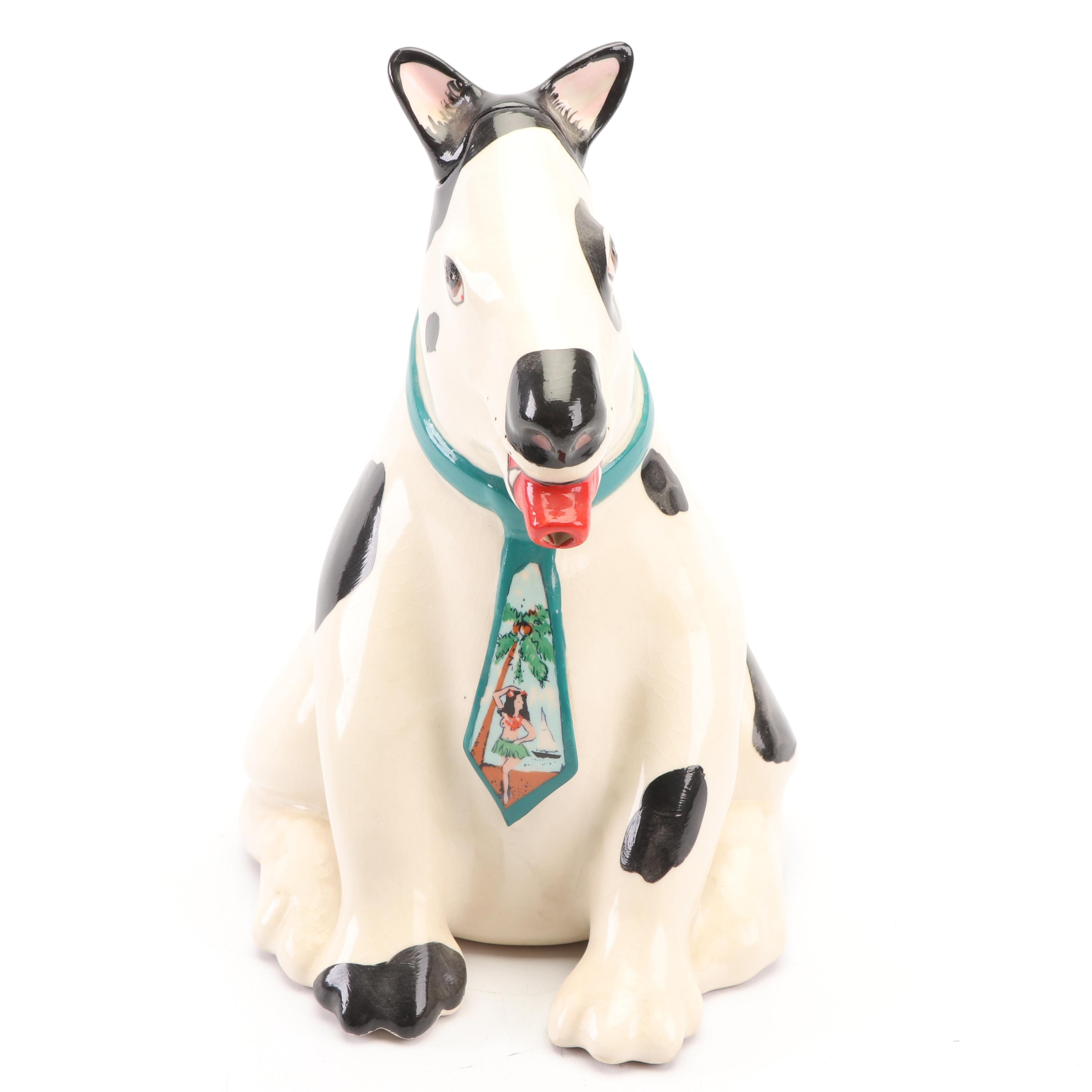 Animals & Co. Ceramic Dog Pitcher, 1984