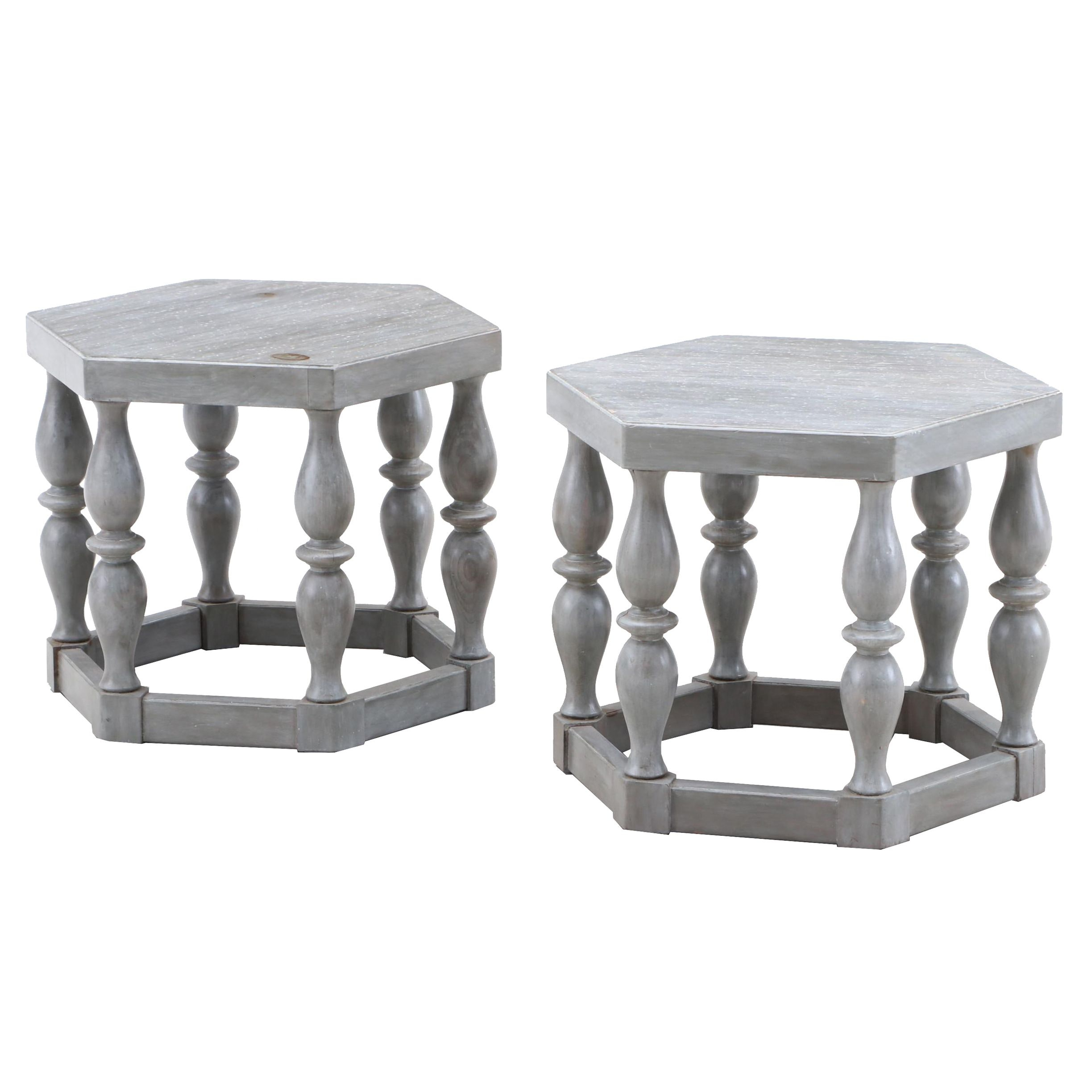 Hexagonal End Tables by Thomasville