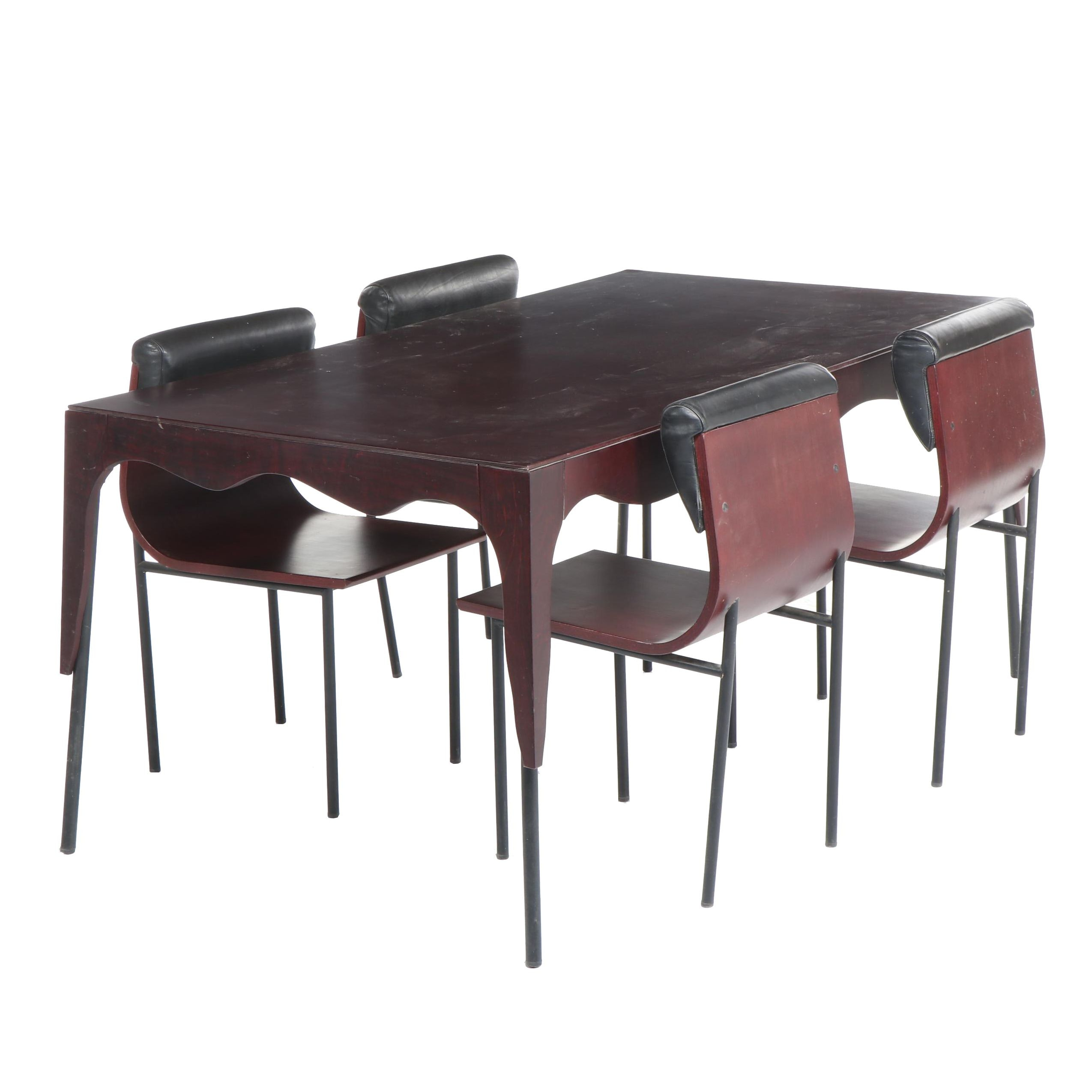 Contemporary Modern Style Dining Table Set