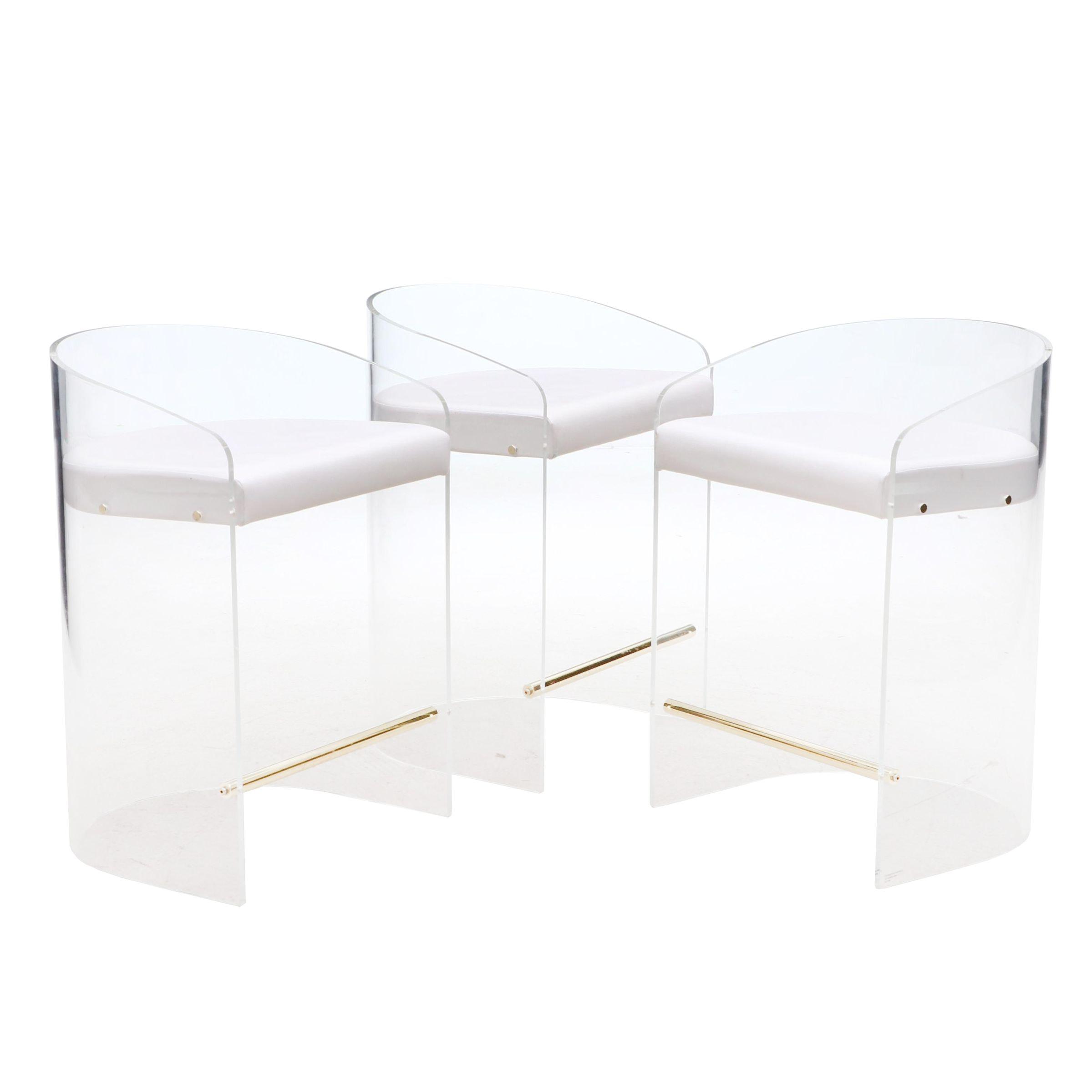 Modernist Acrylic Barrel Chairs