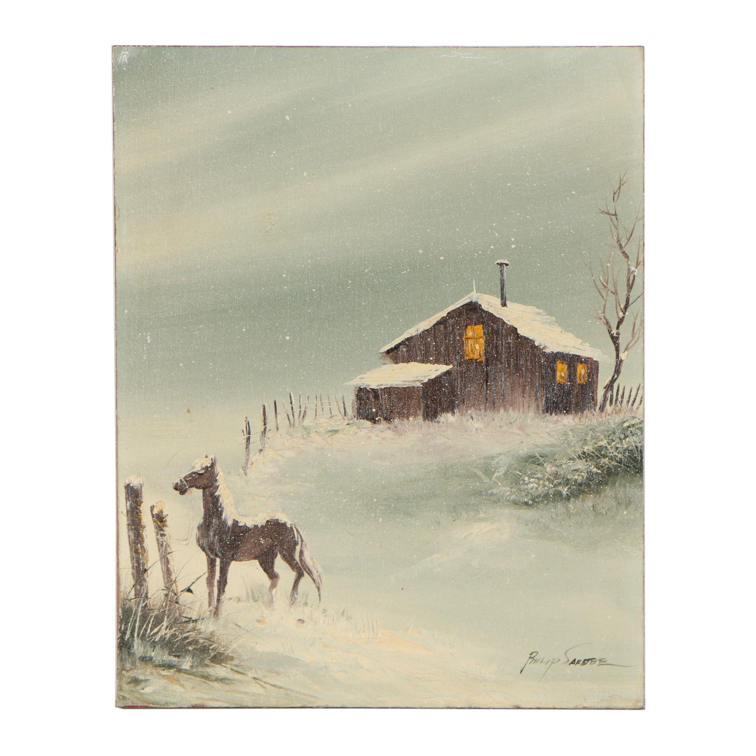 Philip Sandee Landscape Oil Painting