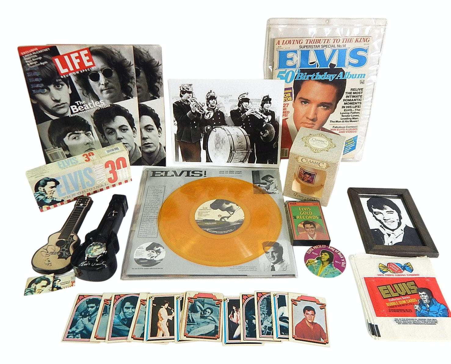 Elvis Presley and The Beatles Collectibles and Memorabilia