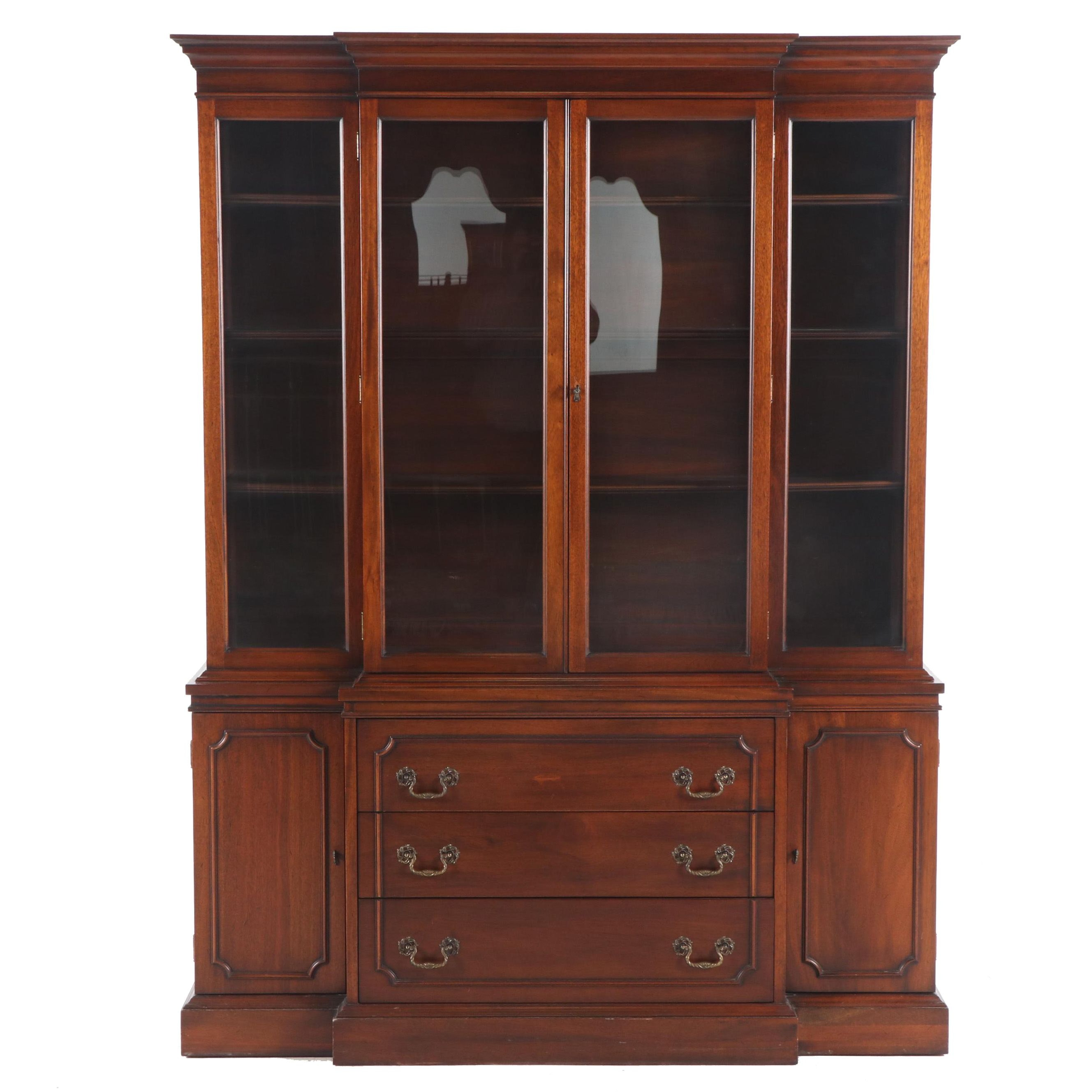 Mahogany Federal Style China Cabinet by Ritter