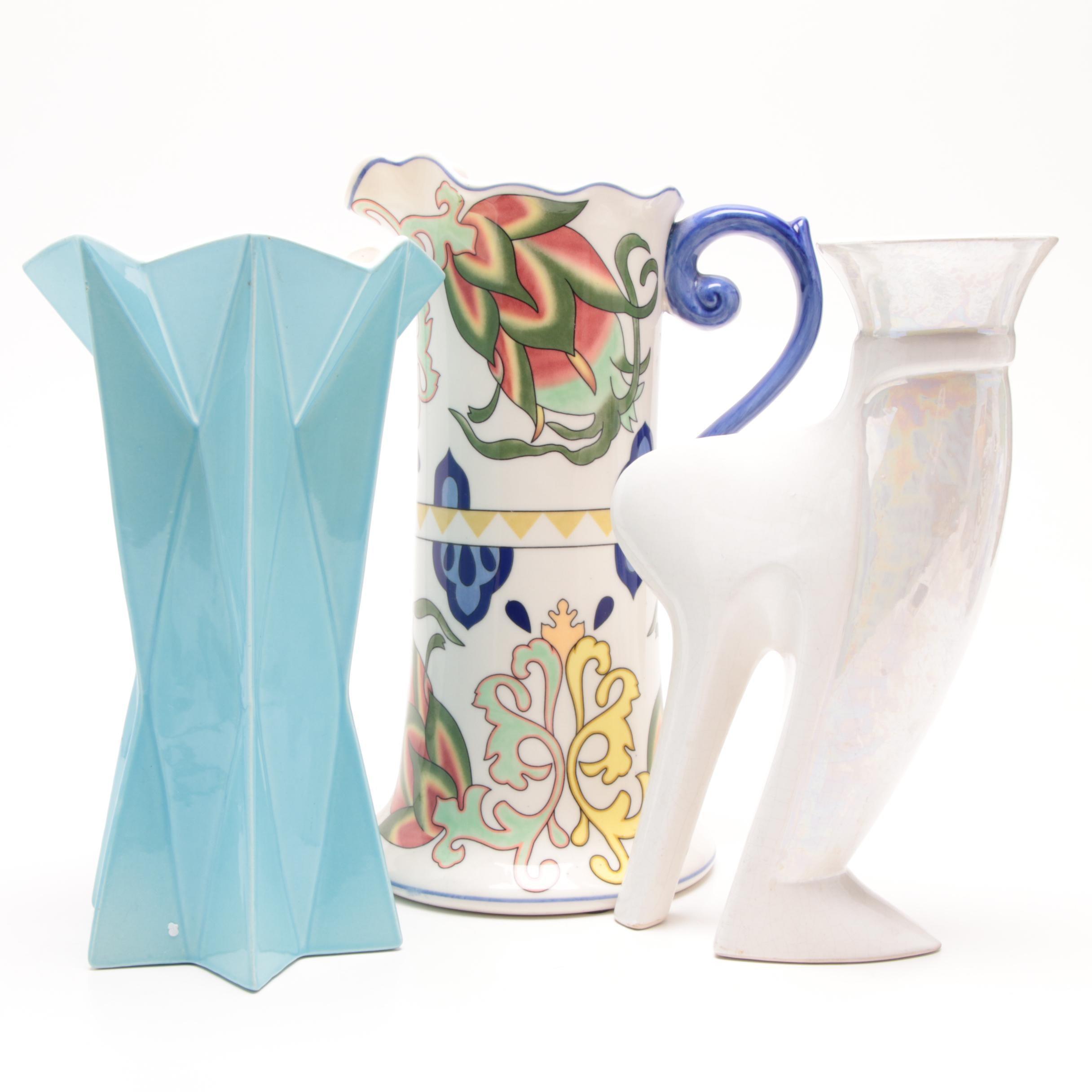 Ceramic Vases Including Red Wing