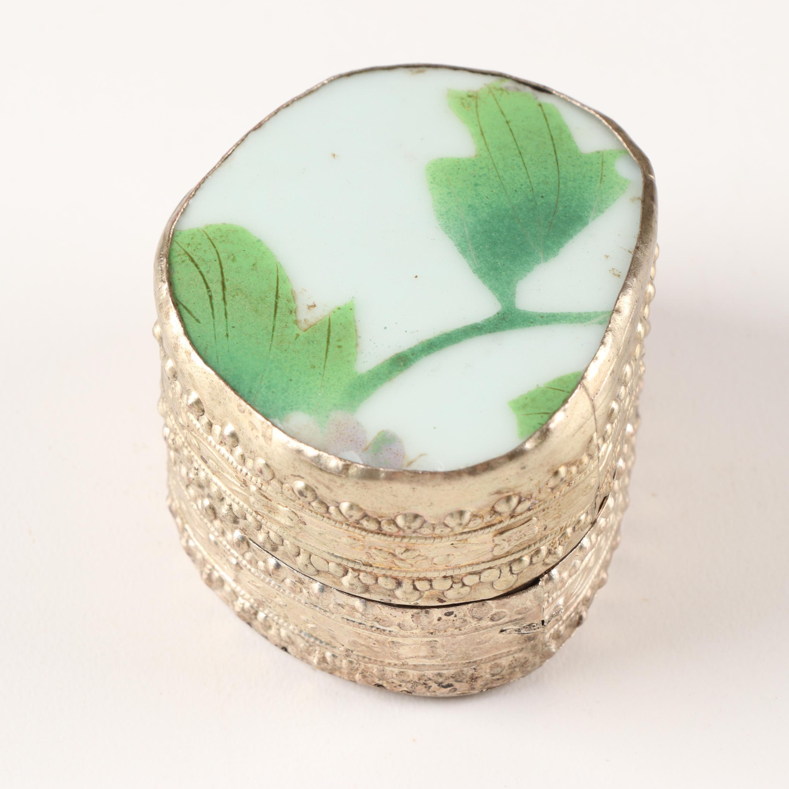 Chinese Pottery Shard Trinket Box