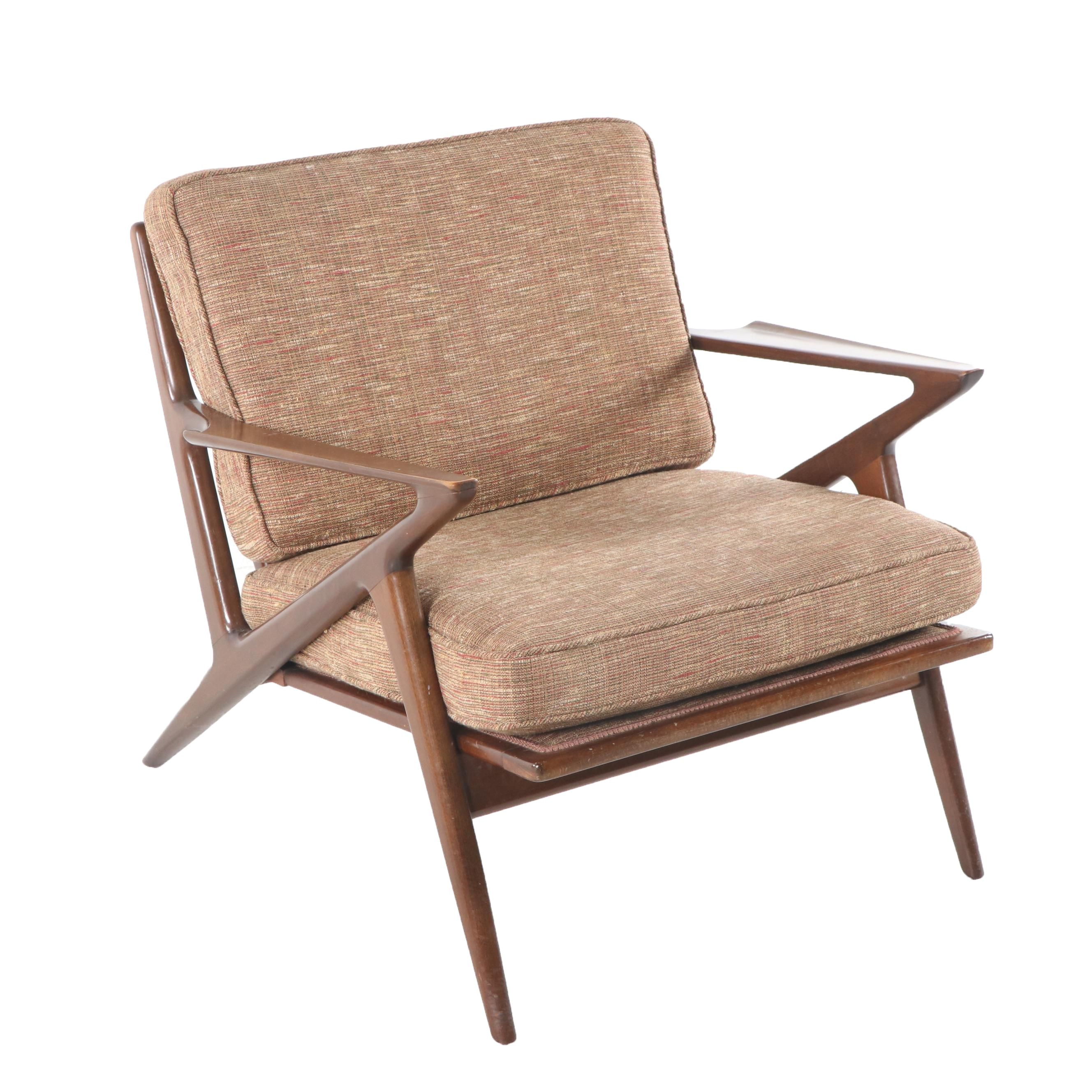 Mid-Century Modern Walnut Armchair after Poul Jensen