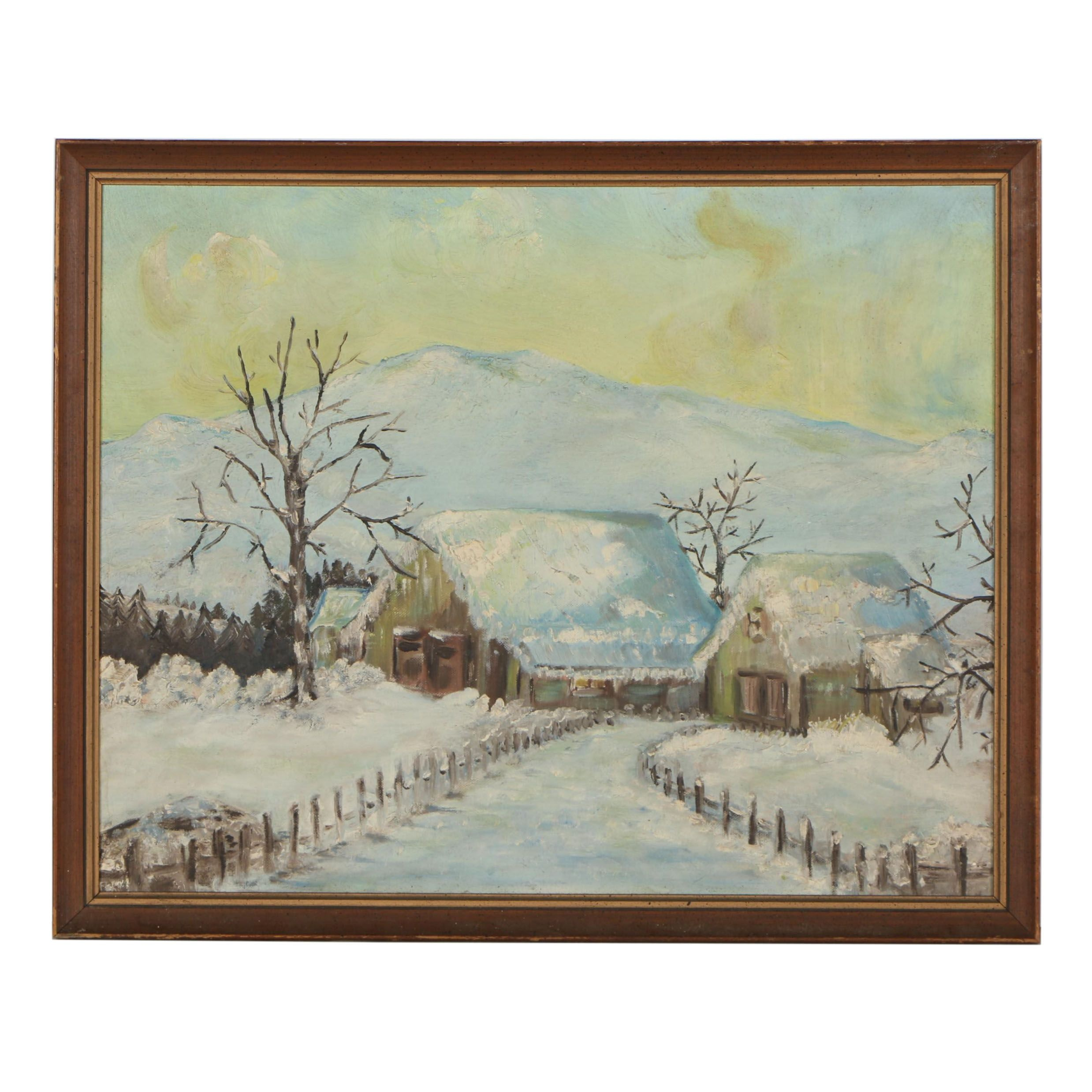 Winterscape Oil Painting