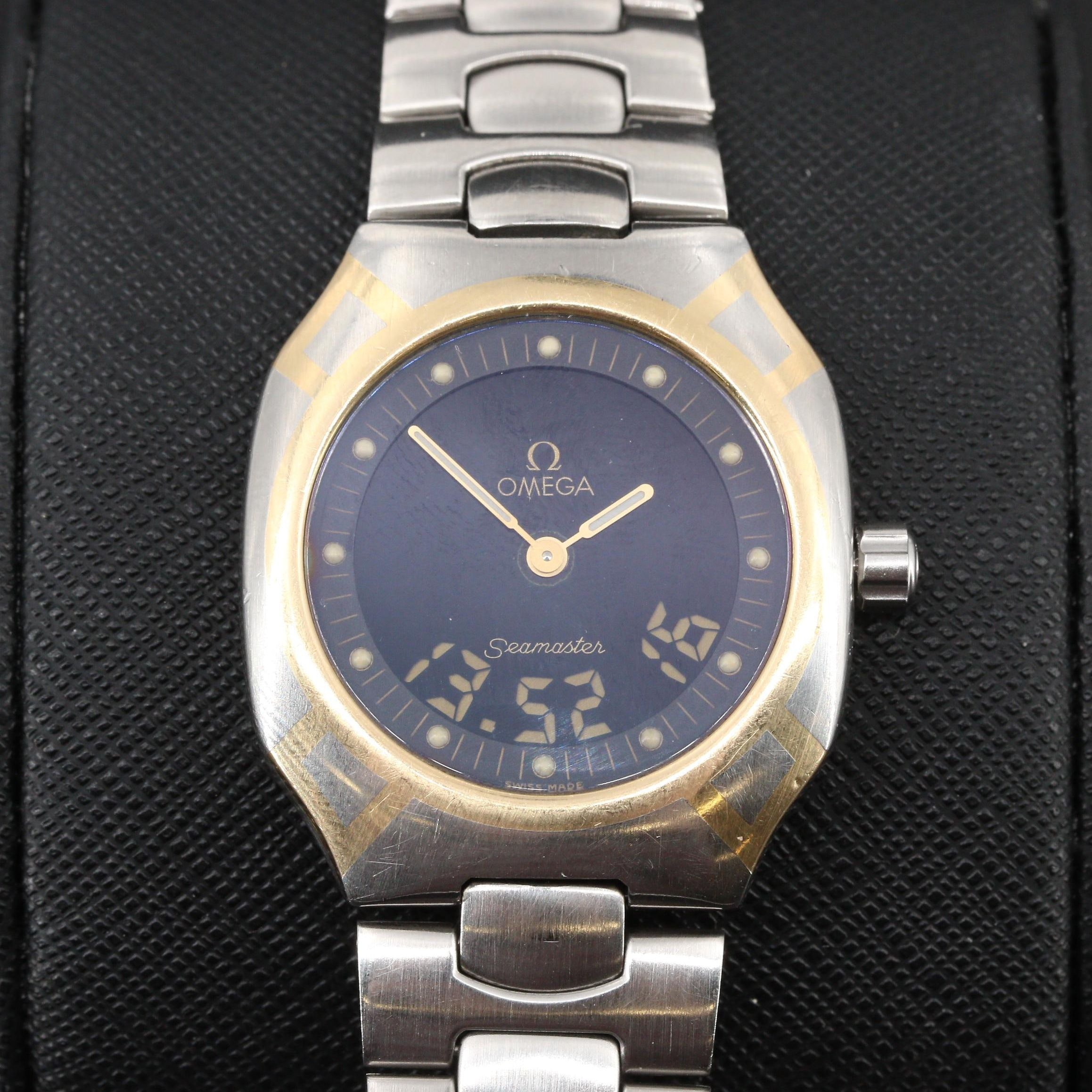 Omega Seamaster Polaris Analog/Digital Quartz Wristwatch, Circa 1988