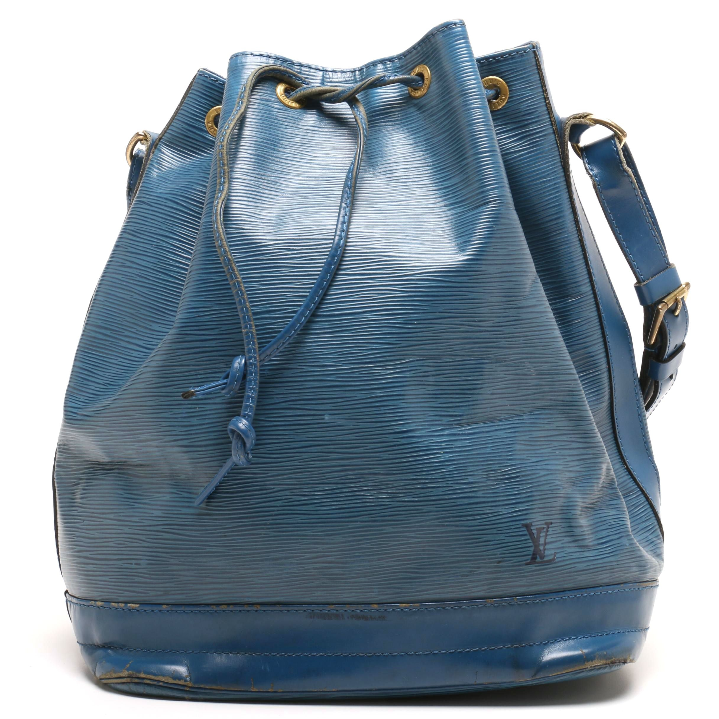 Louis Vuitton Paris Blue Epi Leather Noé Shoulder Bag
