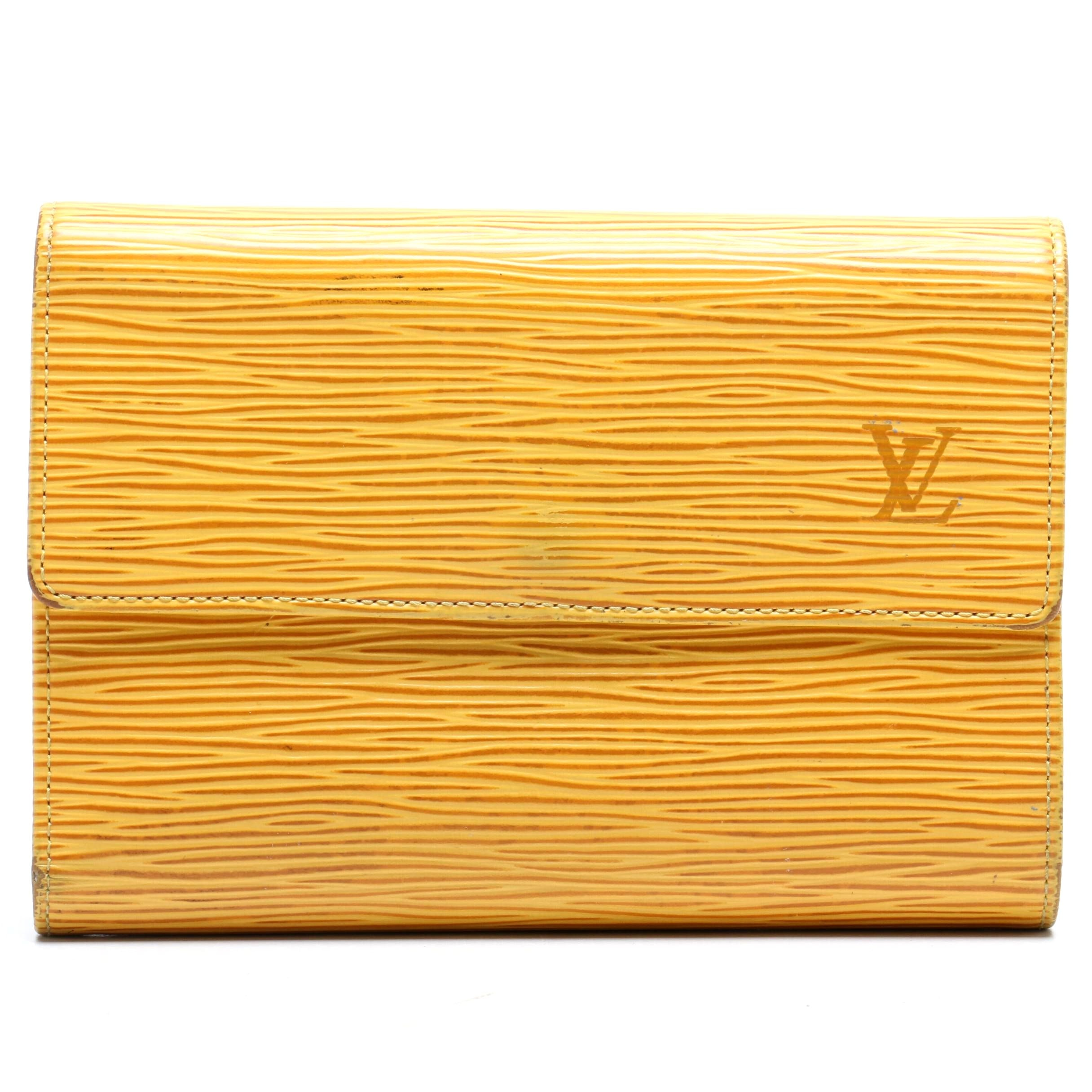 Louis Vuitton Paris Tassil Yellow Epi Leather Ludlow Wallet