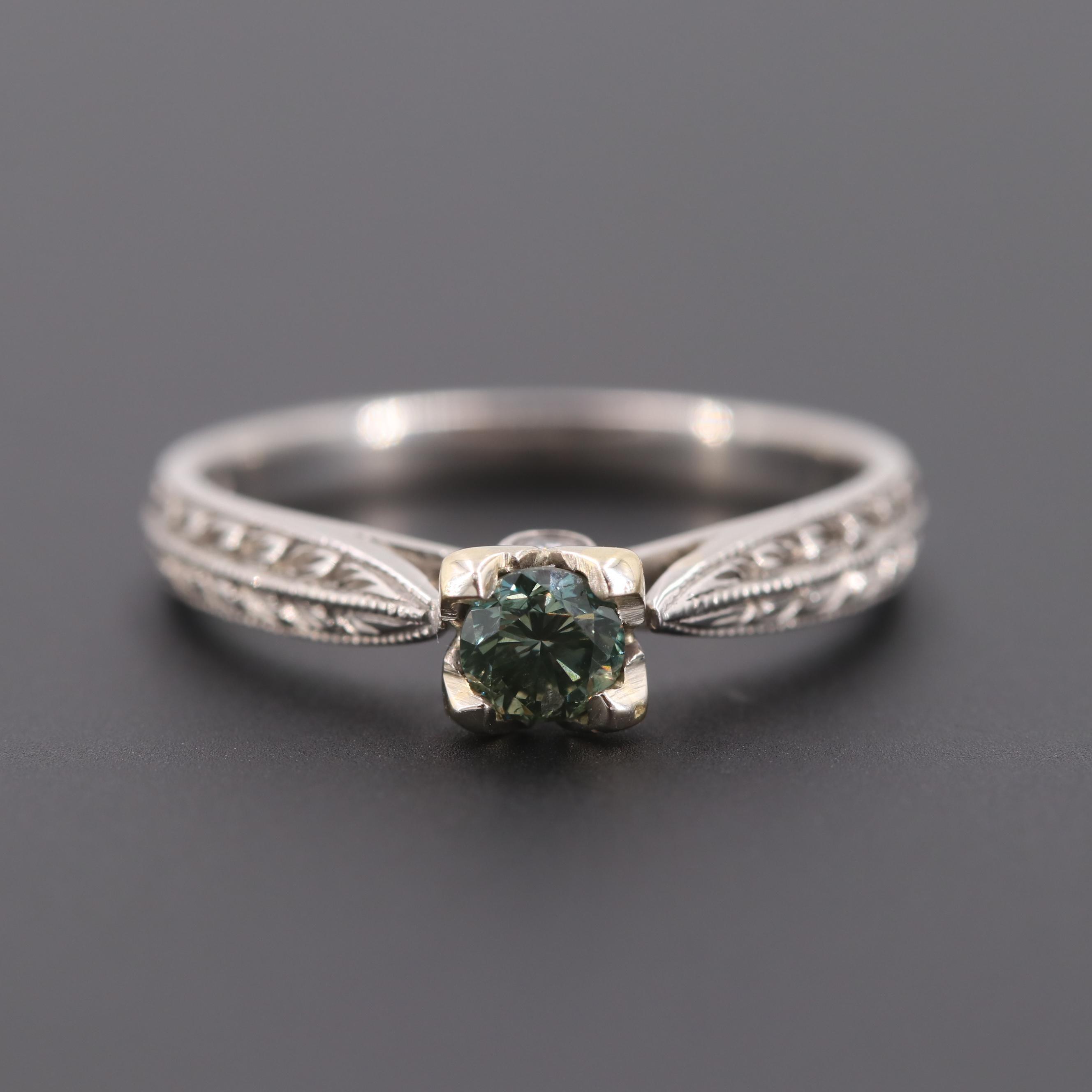 Scott Kay Palladium Diamond Ring