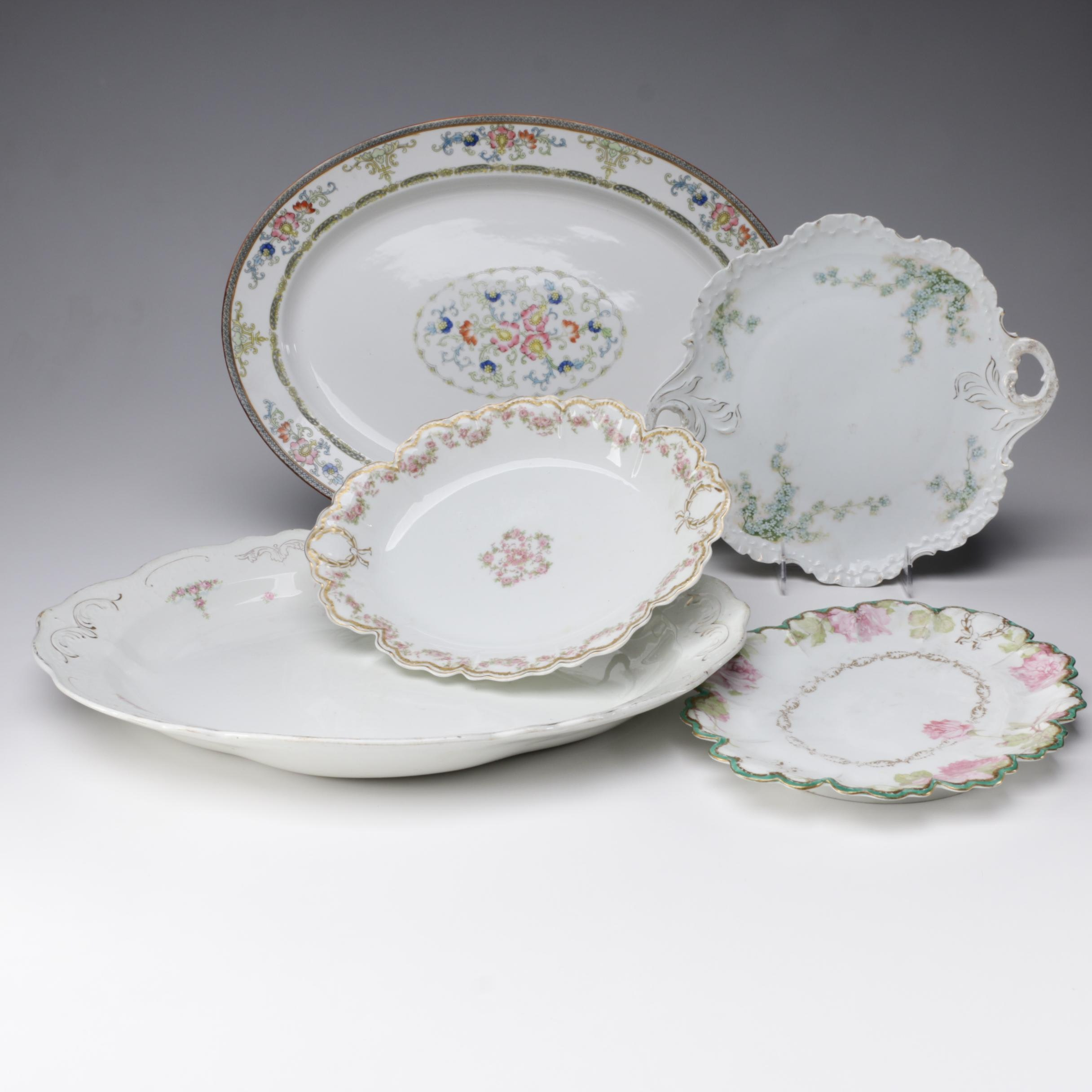 Porcelain and Ceramic Serveware featuring Haviland and Rosenthal