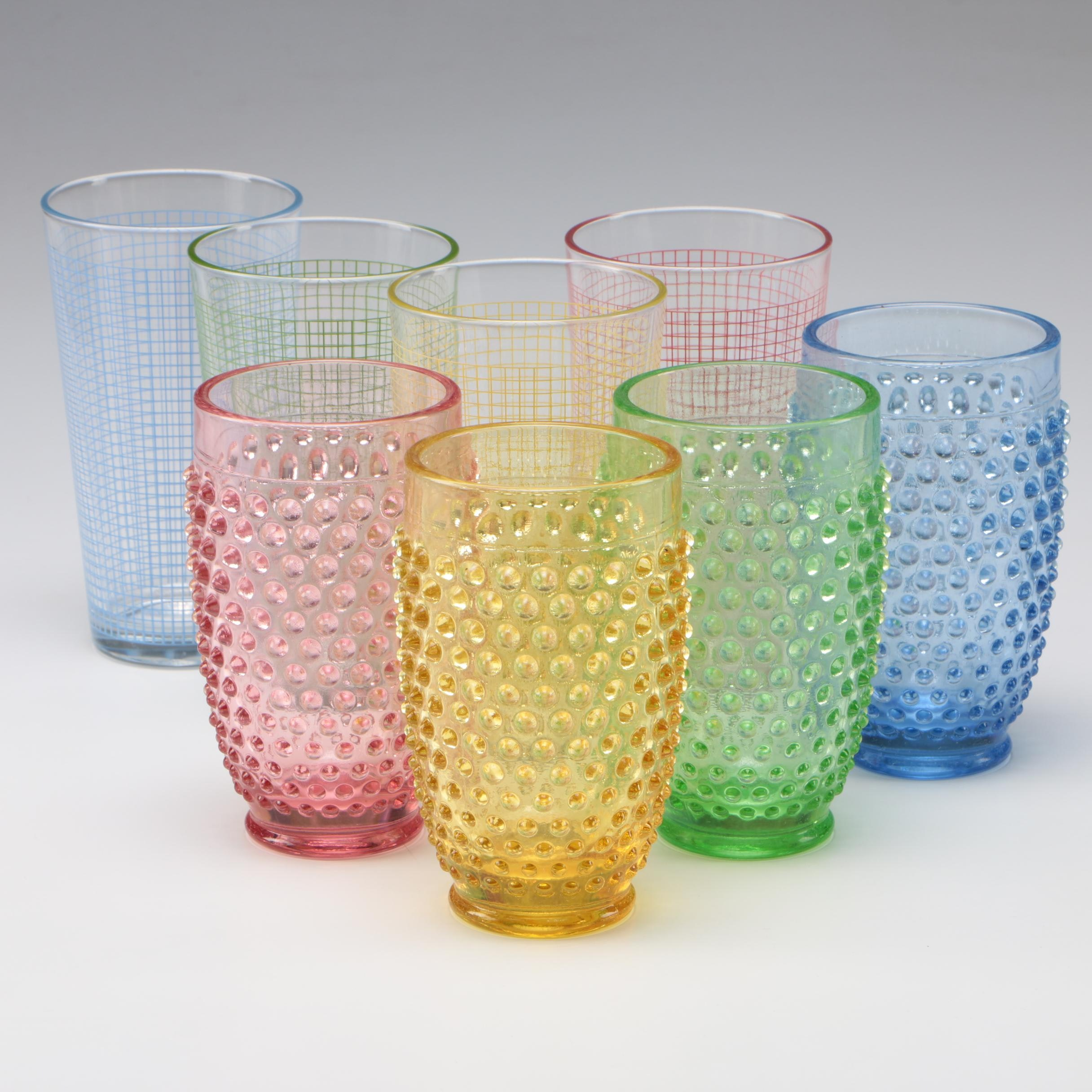 Contemporary Colored Glass Tumblers
