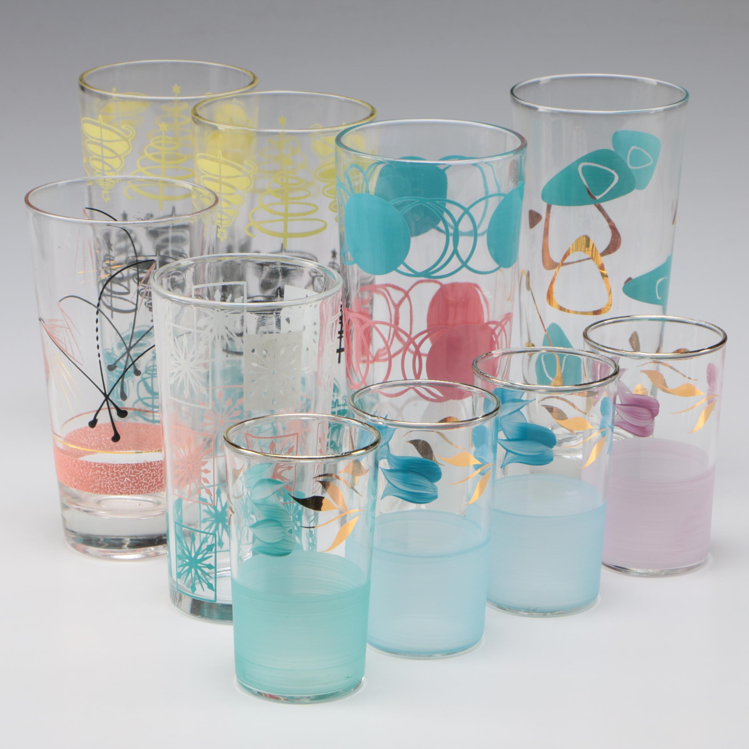 Assorted Contemporary Water and Juice Glasses