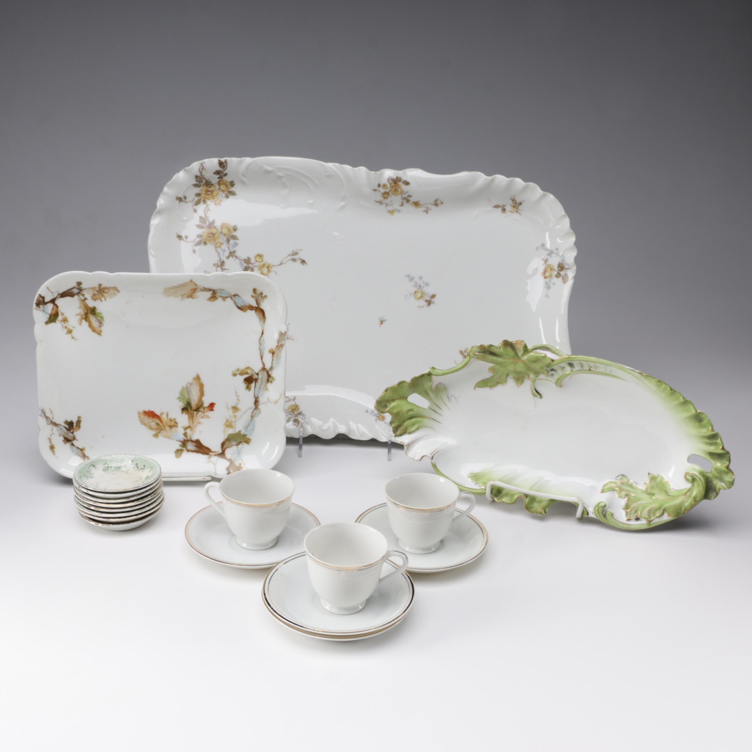 Porcelain Serveware and Demitasse Set featuring Haviland